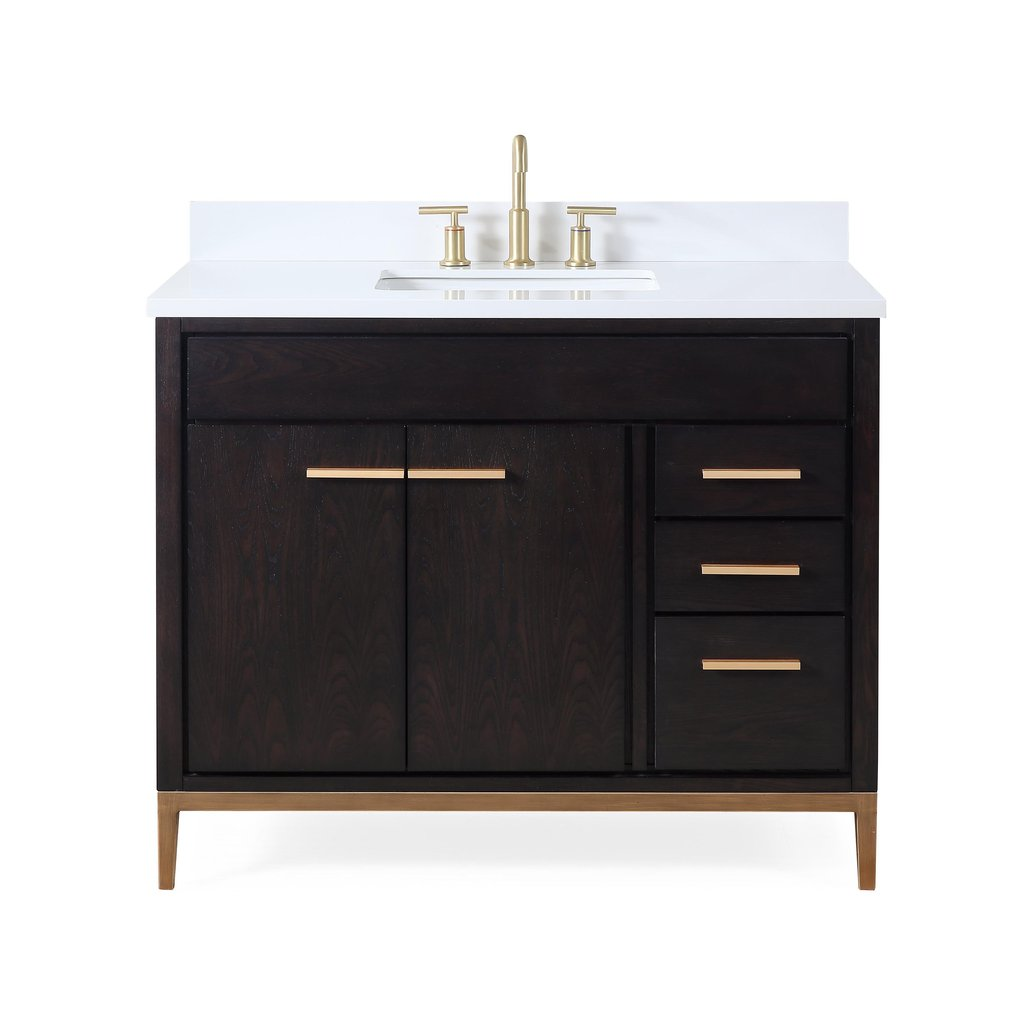 "42"" Modern Style Beatrice Bathroom Sink Vanity - Wenge Color"