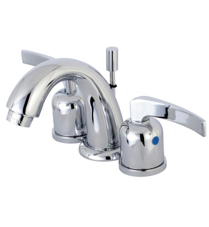 "Centurion 4"" Double Metal Lever Handle Mini - Widespread Bathroom Sink Faucet with Pop-Up Drain"