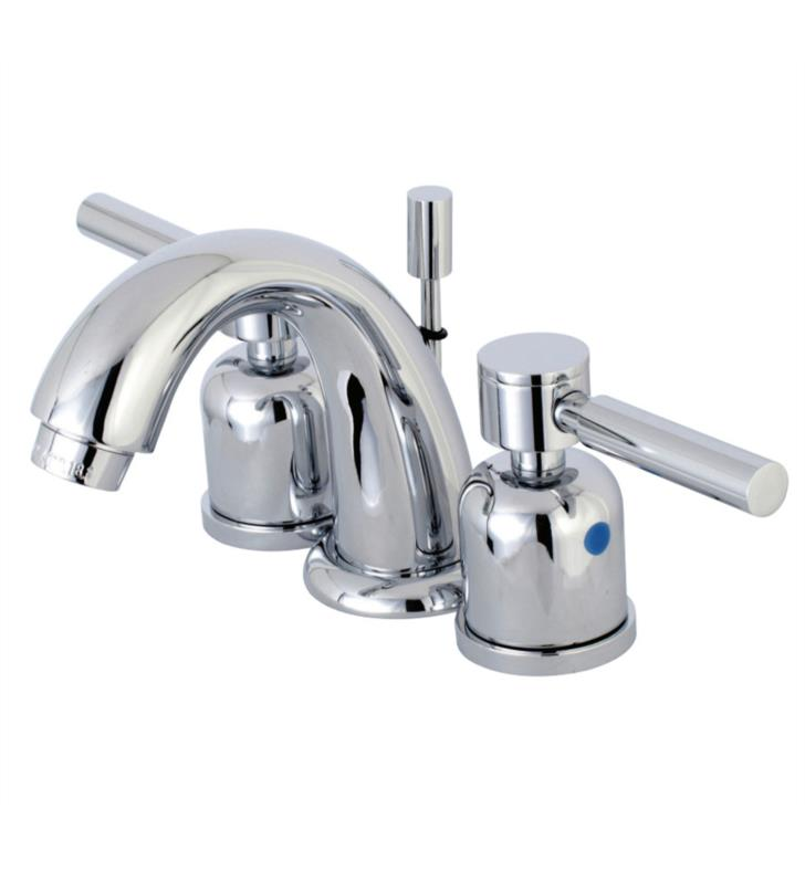 "Concord 4"" Double Metal Lever Handle Mini - Widespread Bathroom Sink Faucet with Pop-Up Drain"
