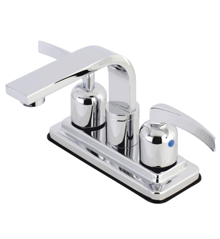 "Centurion 5 3/4"" Double Metal Lever Handle Centerset Bathroom Sink Faucet with Pop-Up Drain"