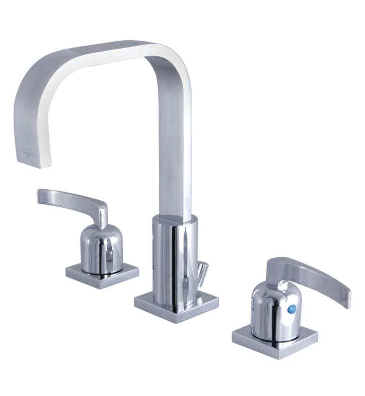 "Centurion 9"" Double Metal Lever Handle Widespread Bathroom Sink Faucet with Pop-Up Drain"