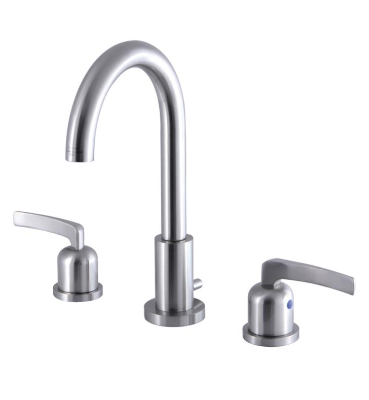 "Centurion 10"" Double Metal Lever Handle Widespread Bathroom Sink Faucet with Pop-Up Drain"