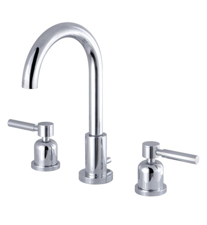 "Concord 10"" Double Metal Lever Handle Widespread Bathroom Sink Faucet with Pop-Up Drain"