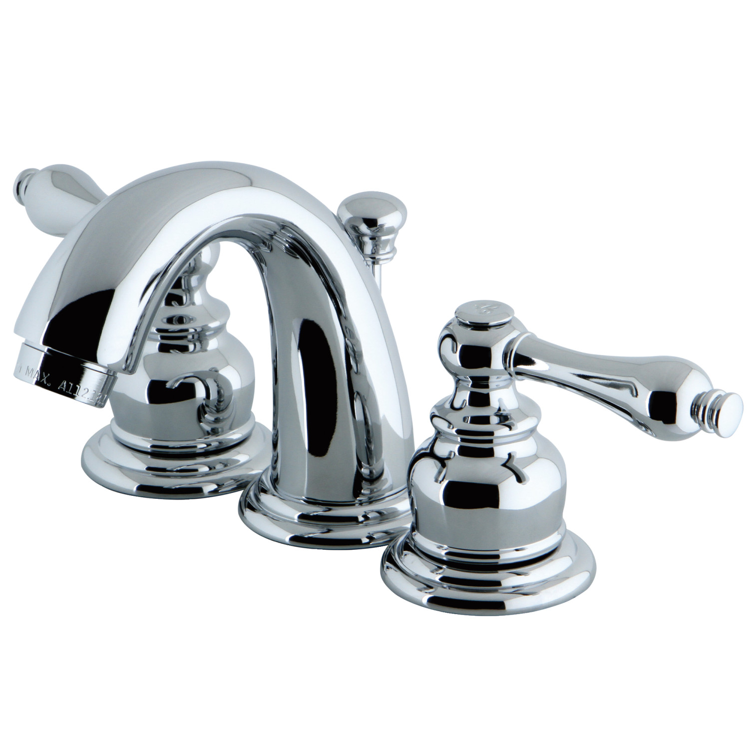 Two-Handle 3-Hole Deck Mounted Widespread Bathroom Faucet with Plastic Pop-Up