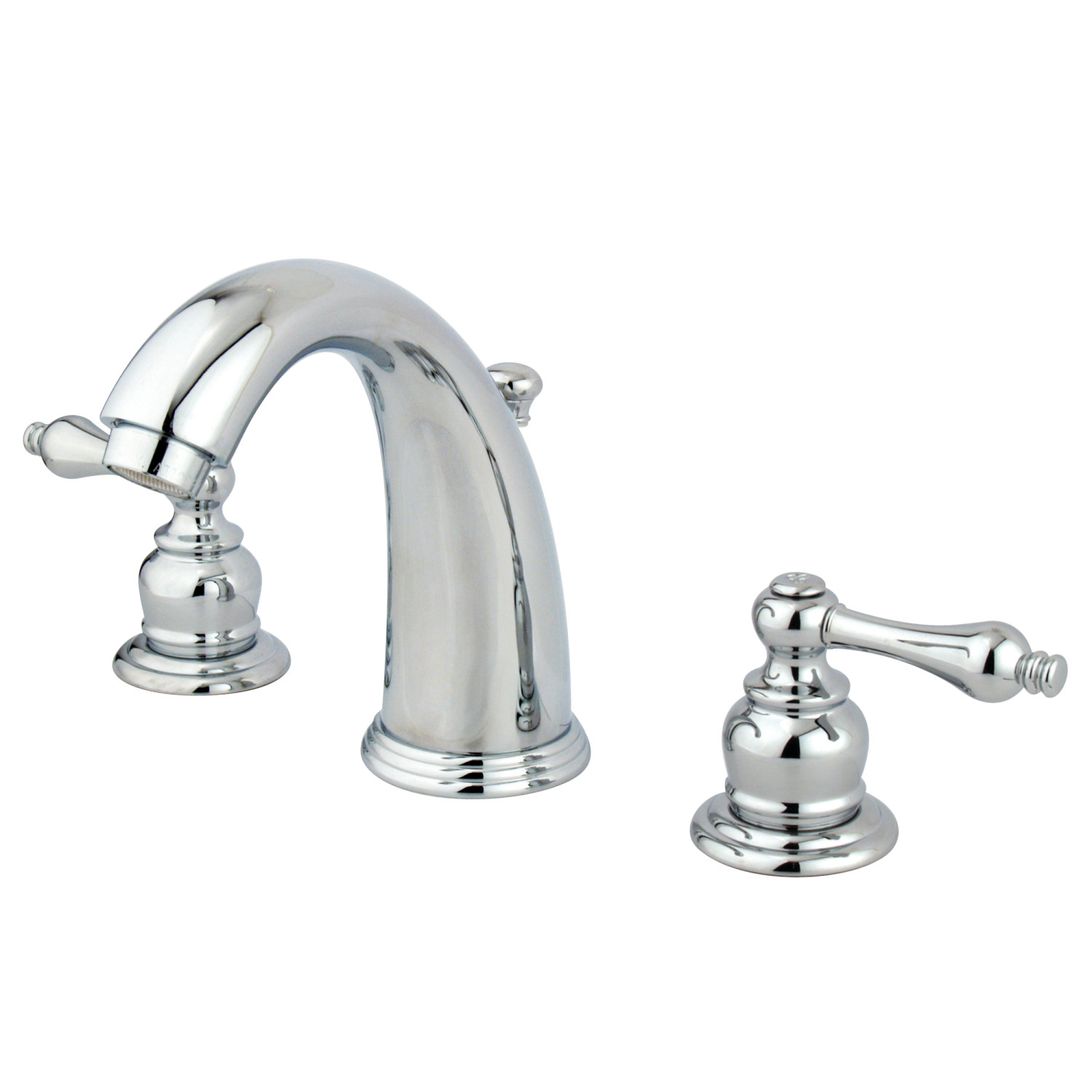 Traditional Two-Handle 3-Hole Deck Mounted Widespread Bathroom Faucet in Polished Chrome