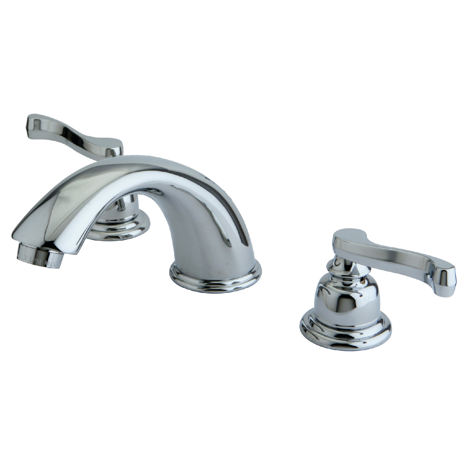 Modern Two-Handle 3-Hole Deck Mounted Widespread Bathroom Faucet with Plastic Pop-Up