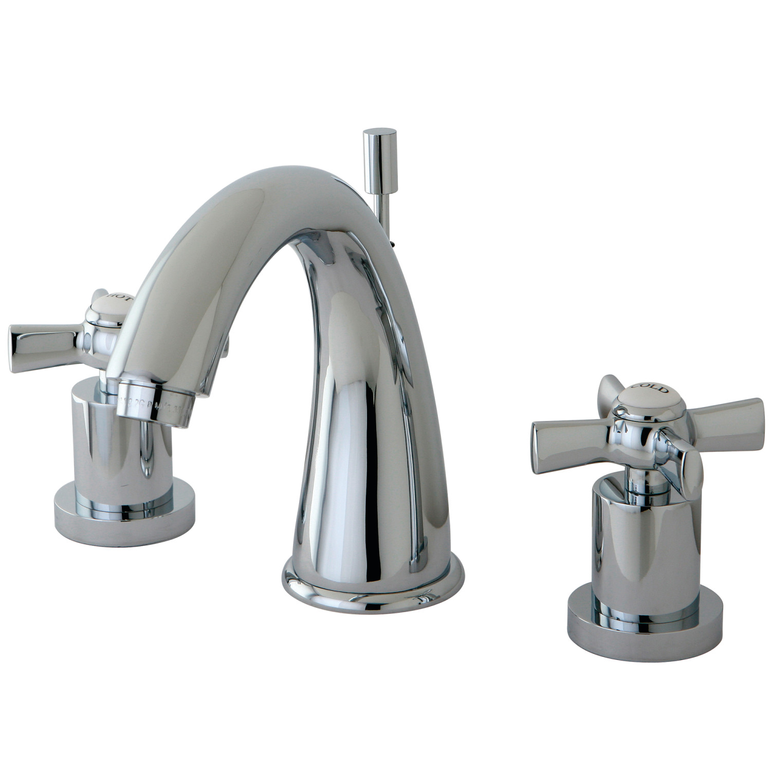 Modern Two-Handle 3-Hole Deck Mounted Widespread Bathroom Faucet with Brass Pop-Up in Polished Chrome Finish
