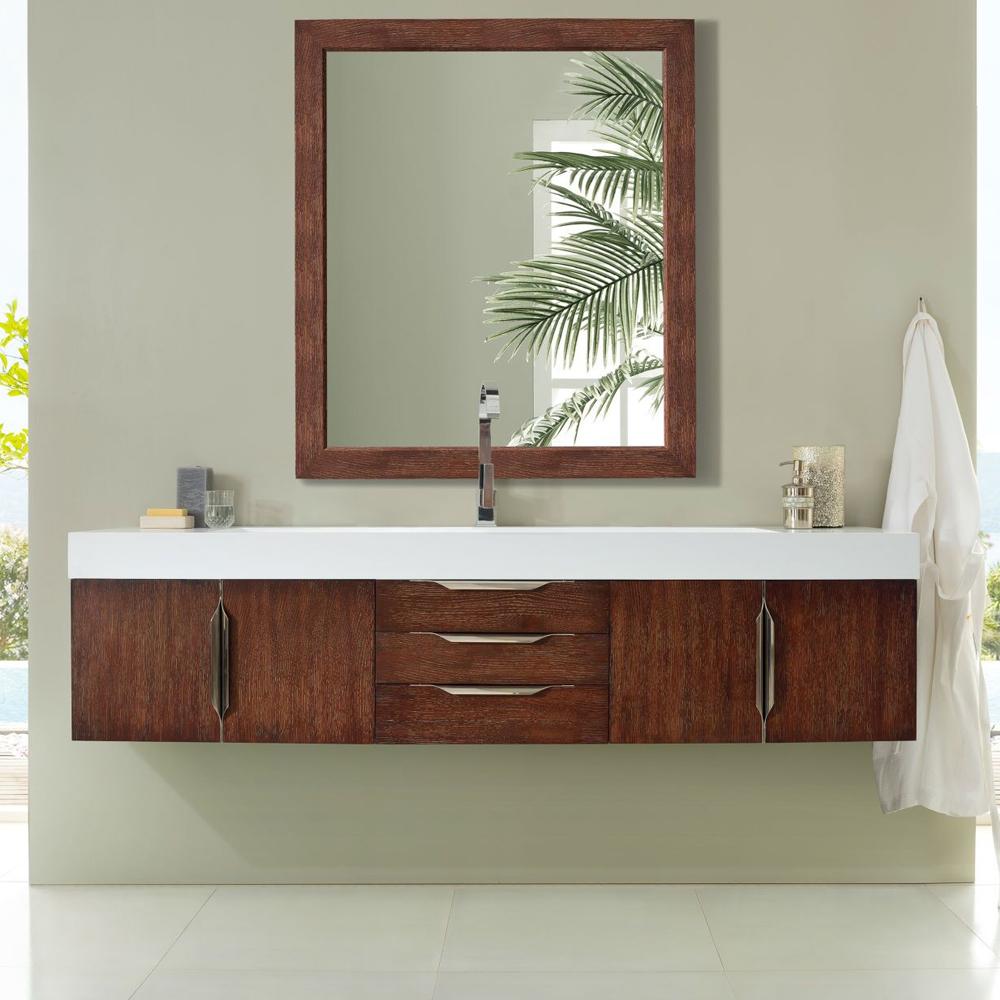 "James Martin Mercer Island Collection 72"" Single Vanity, Coffee Oak Finish"