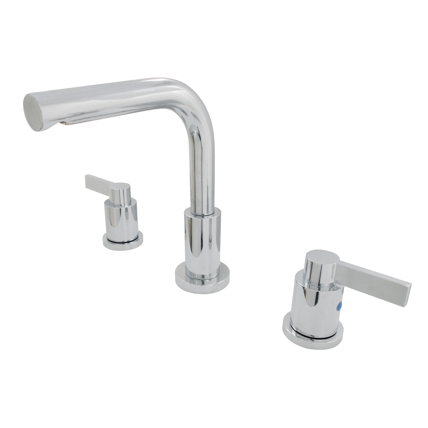 Modern Two-Handle 3-Hole Deck Mounted Widespread Bathroom Faucet Brass Pop-Up in Polished Chrome Finish