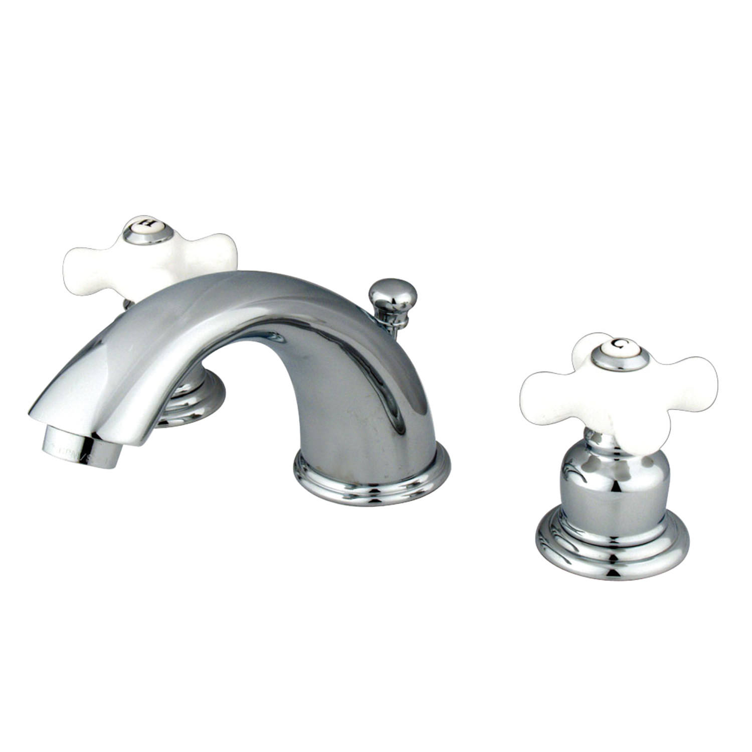 Vintage Two-Handle 3-Hole Deck Mounted Widespread Bathroom Faucet with Plastic Pop-Up in Polished Chrome