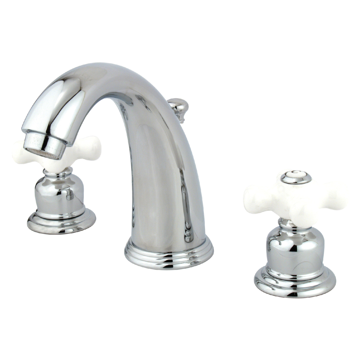 Vintage 2-Handle 3-Hole Deck Mounted Widespread Bathroom Faucet with Plastic Pop-Up in Polished Chrome