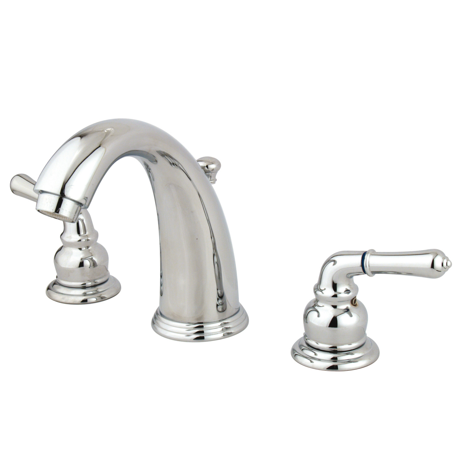 Traditional Two-Handle 3-Hole Deck Mounted Widespread Bathroom Faucet with Plastic Pop-Up Polished Chrome