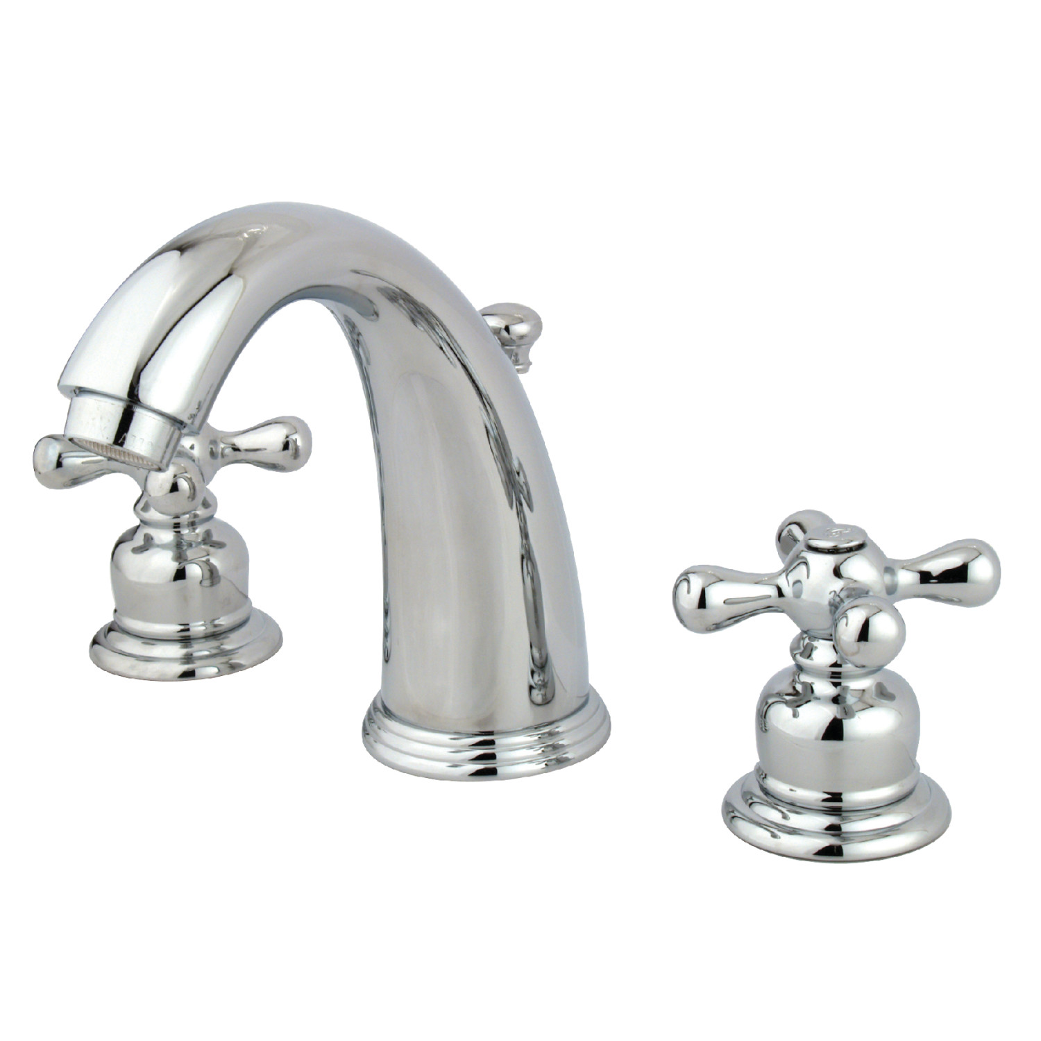 Vintage 2-Handle Three-Hole Deck Mounted Widespread Bathroom Faucet in Polished Chrome