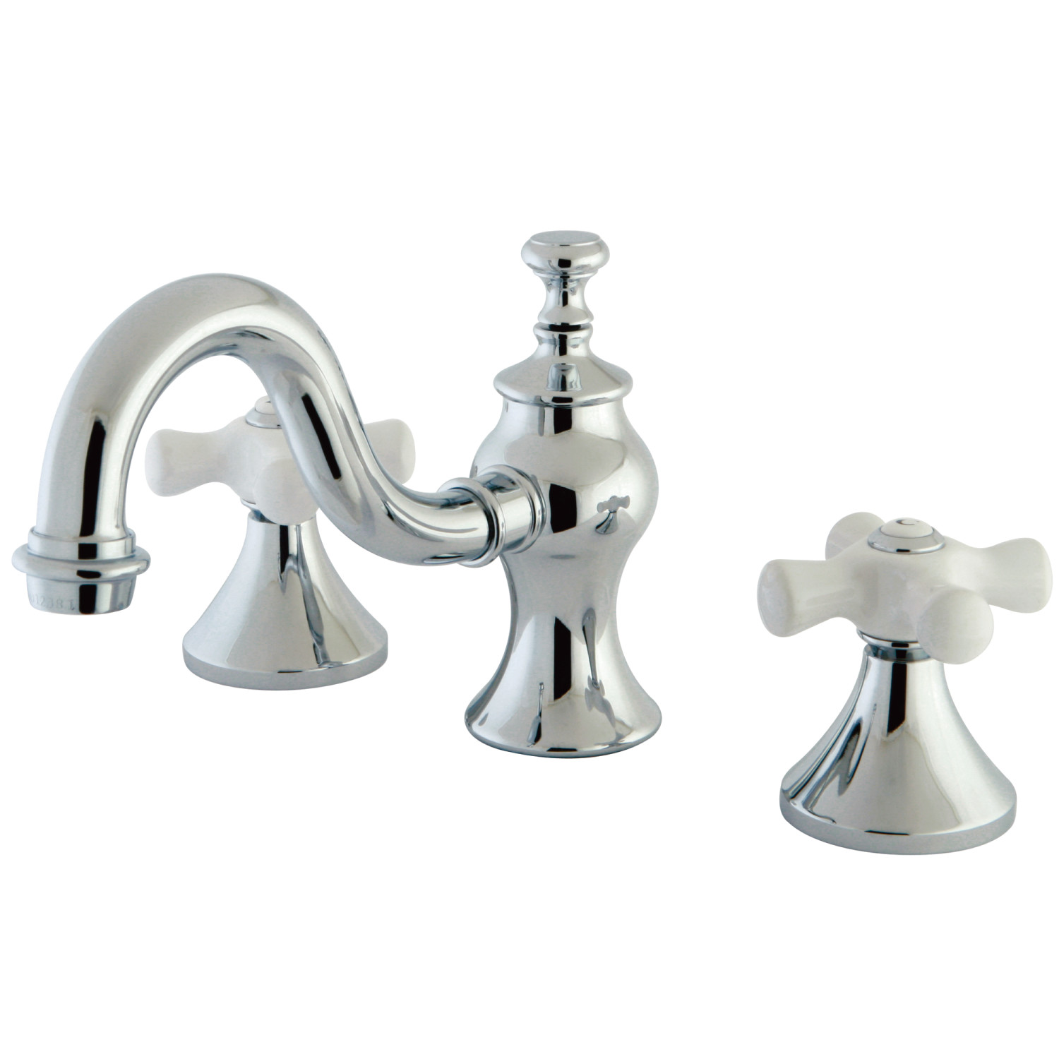 Traditional 2-Handle Three-Hole Deck Mounted Widespread Bathroom Faucet with Brass Pop-Up in Polished Chrome