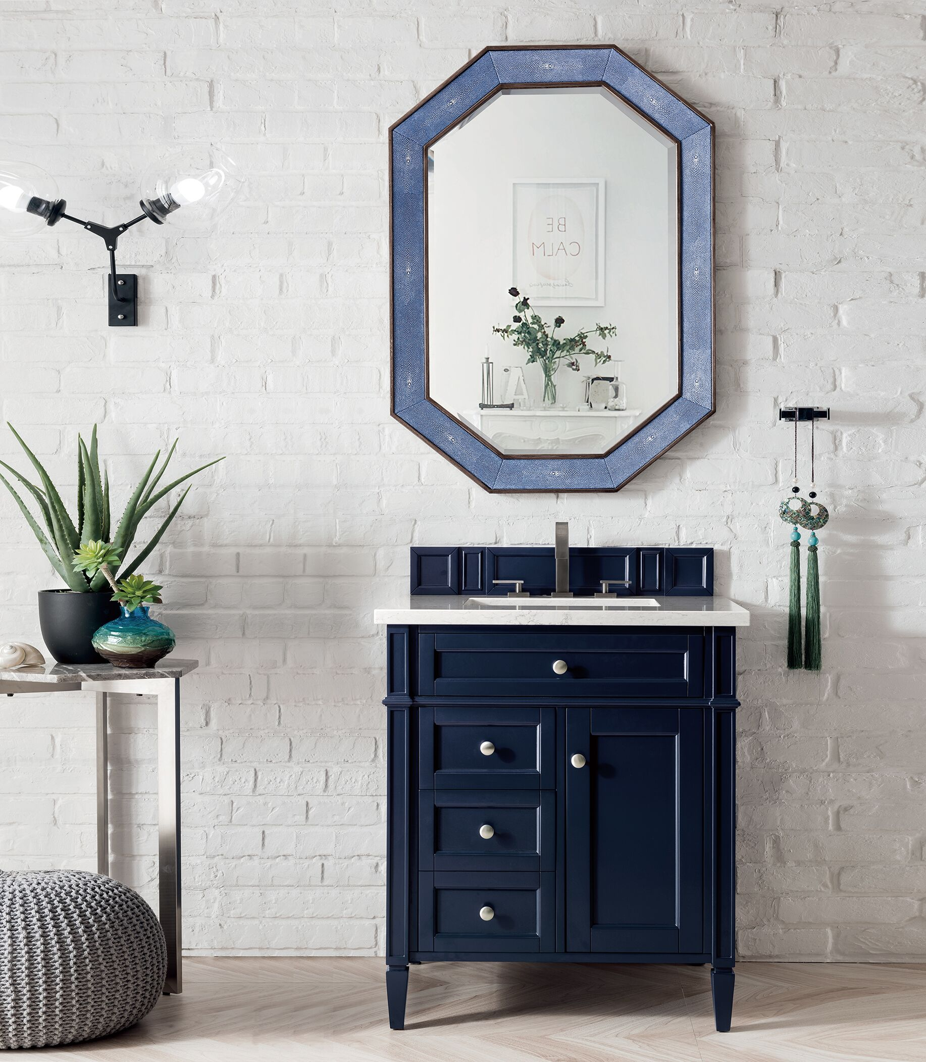 "James Martin Brittany Collection 30"" Single Vanity, Victory Blue"