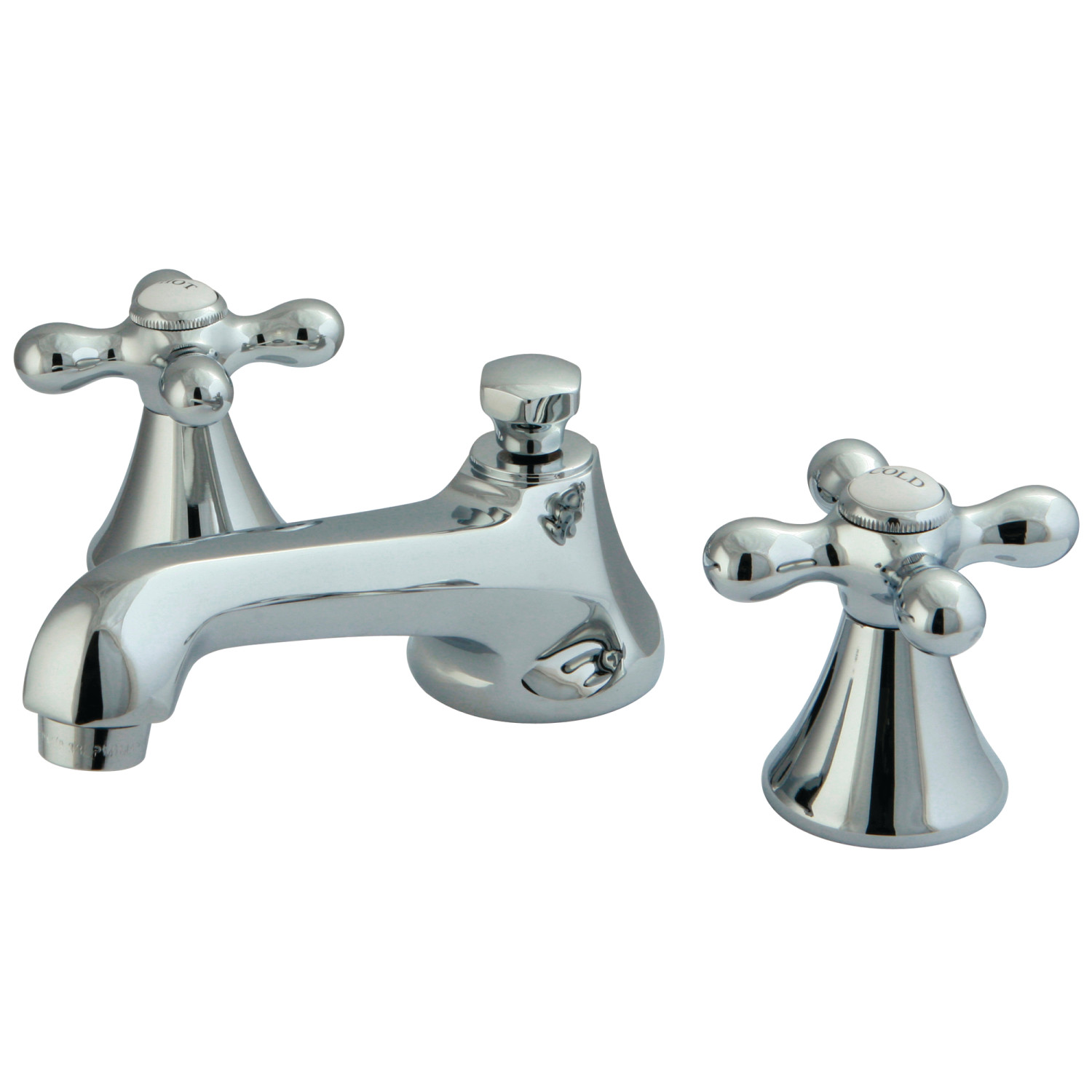 Modern Two-Handle 3-Hole Deck Mounted Widespread Bathroom Faucet with Brass Pop-Up Polished Chrome with 4 Color Options