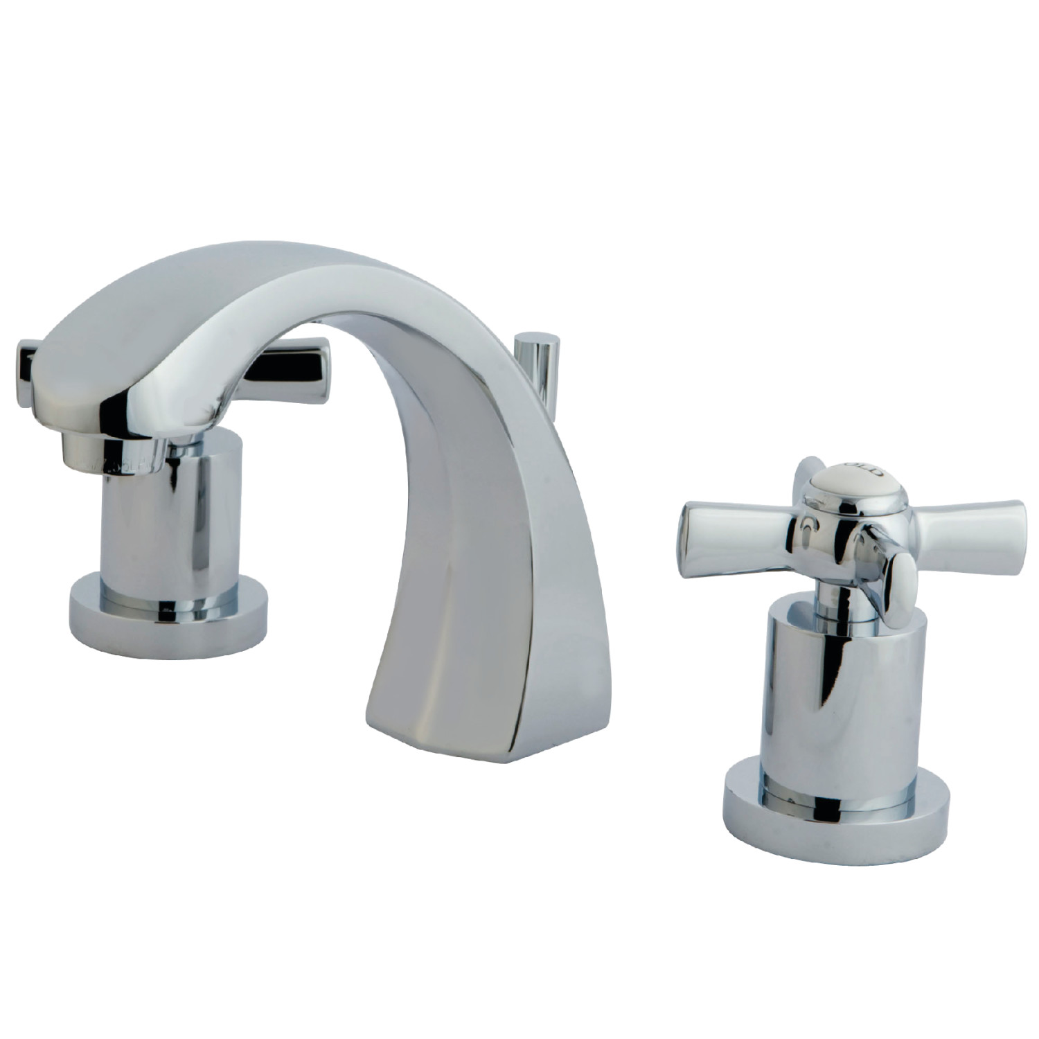 Modern 2-Handle 3-Hole Deck Mounted Widespread Bathroom Faucet with Brass Pop-Up in Polished Chrome Finish