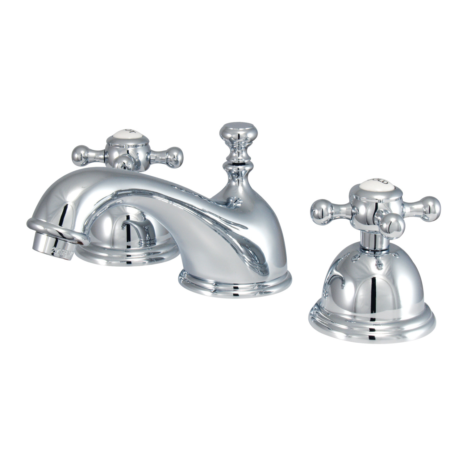 Traditional Two-Handle 3-Hole Deck Mounted Widespread Bathroom Faucet Brass Pop-Up Polished Chrome