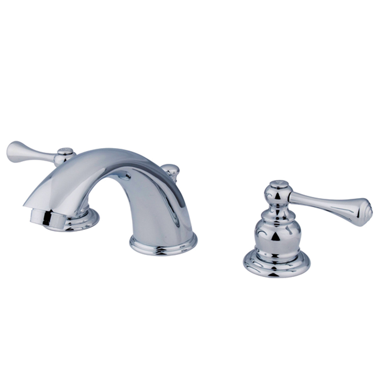 Traditional 2-Handle 3-Hole Deck Mounted Widespread Bathroom Faucet with Plastic Pop-Up Polished Chrome