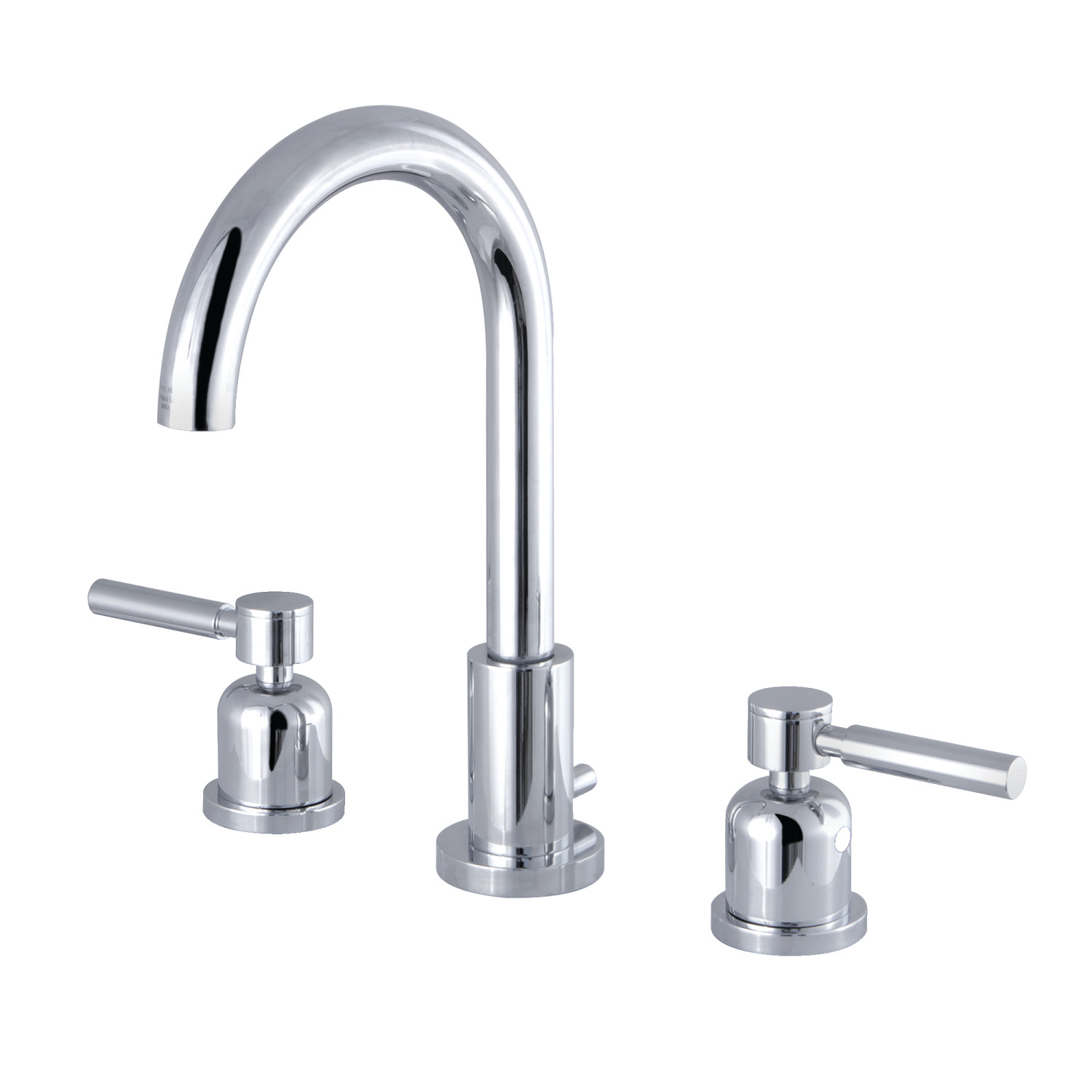 Modern Two-Handle 3-Hole Deck Mounted Widespread Bathroom Faucet Brass Pop-Up Polished Chrome
