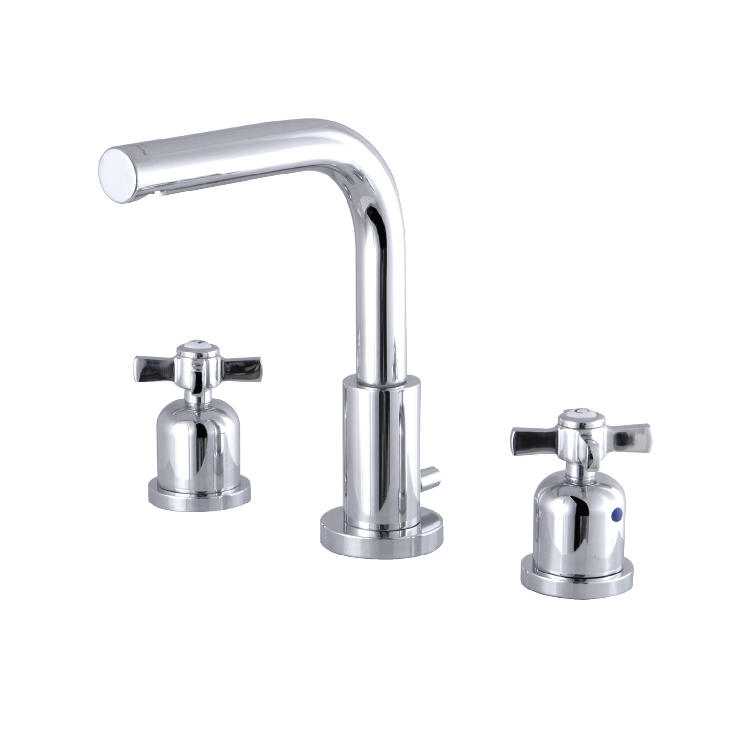 Modern Two-Handle 3-Hole Deck Mounted Widespread Bathroom Faucet with Brass Pop-Up with 6 Finish Options