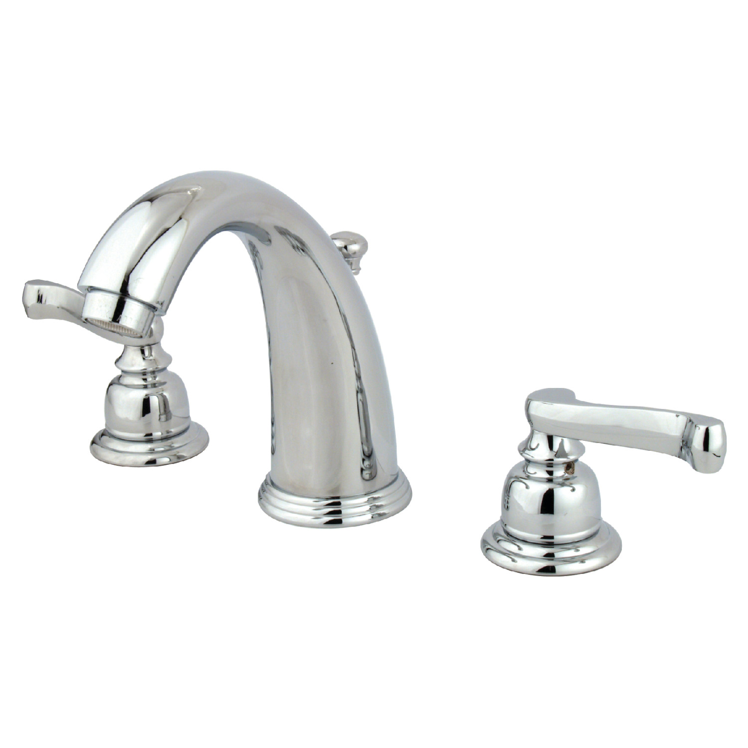 Traditional Two-Handle 3-Hole Deck Mounted Widespread Bathroom Faucet with Plastic Pop-Up Polished Chrome with 4 Color Options