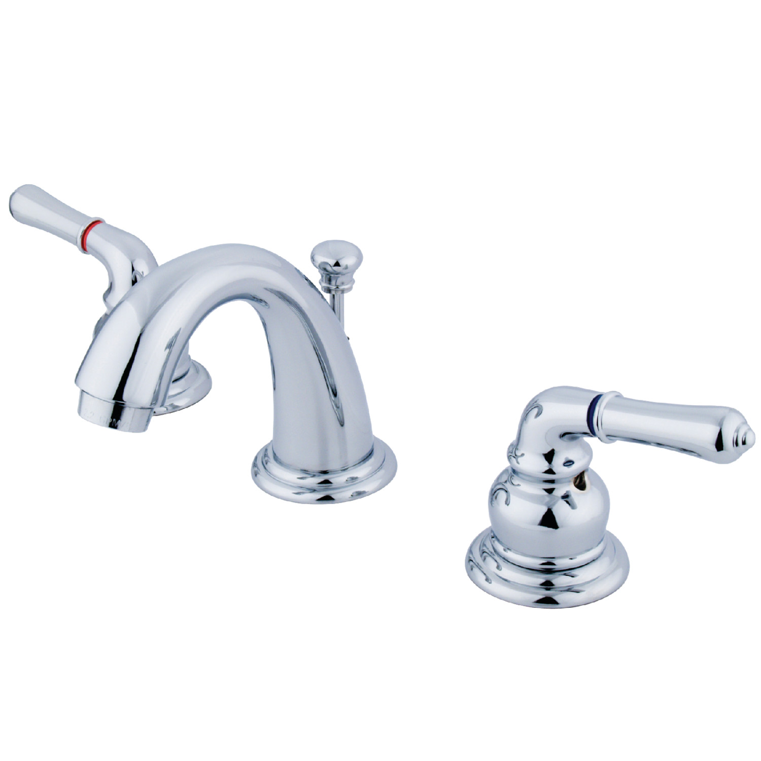 Traditional Two-Handle 3-Hole Deck Mounted Widespread Bathroom Faucet with Plastic Pop-Up in Polished Chrome with Four Finish Options