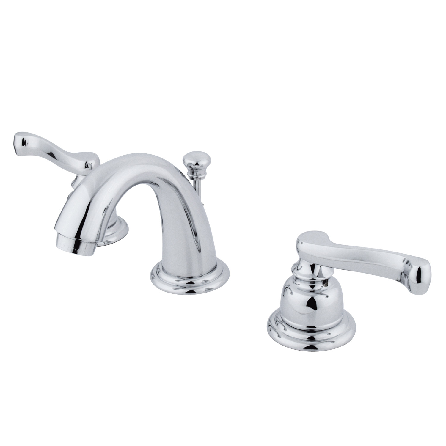 Traditional Two-Handle 3-Hole Deck Mounted Widespread Bathroom Faucet with Plastic Pop-Up in Polished Chrome with 2 Finish Options