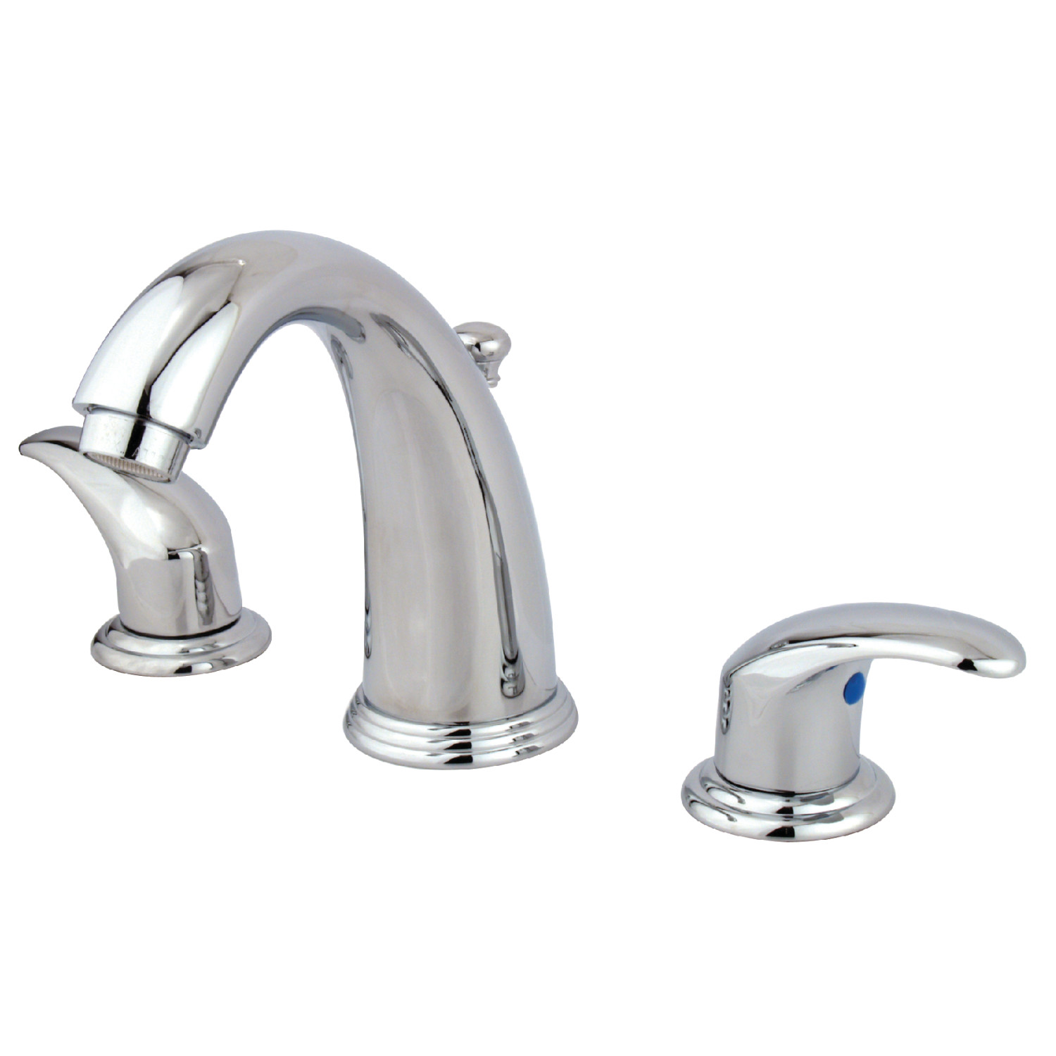 Traditional Two-Handle 3-Hole Deck Mounted Widespread Bathroom Faucet with Plastic Pop-Up in Polished Chrome with Four Finish Option