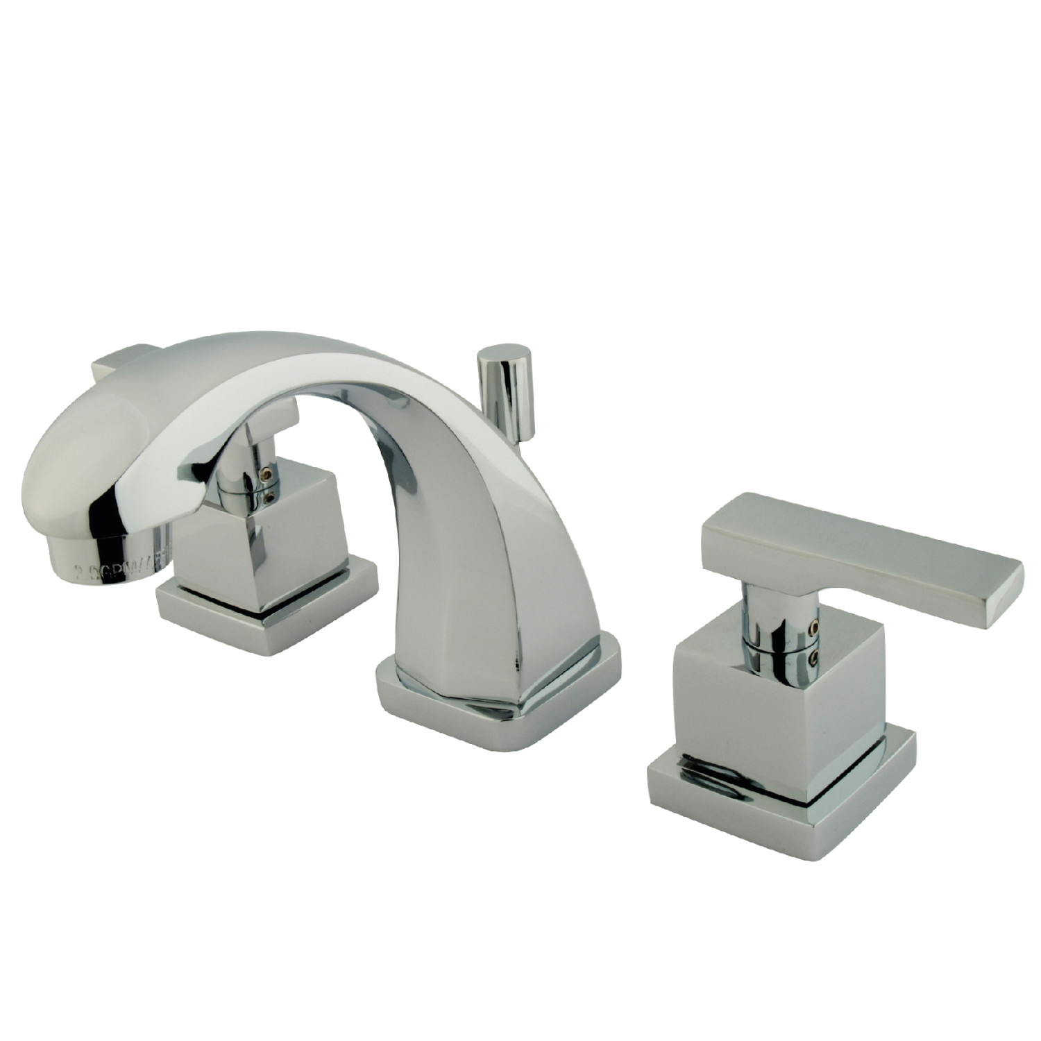 Modern Two-Handle 3-Hole Deck Mounted Widespread Bathroom Faucet with Brass Pop-Up in Polished Chrome with 4 Finish Option