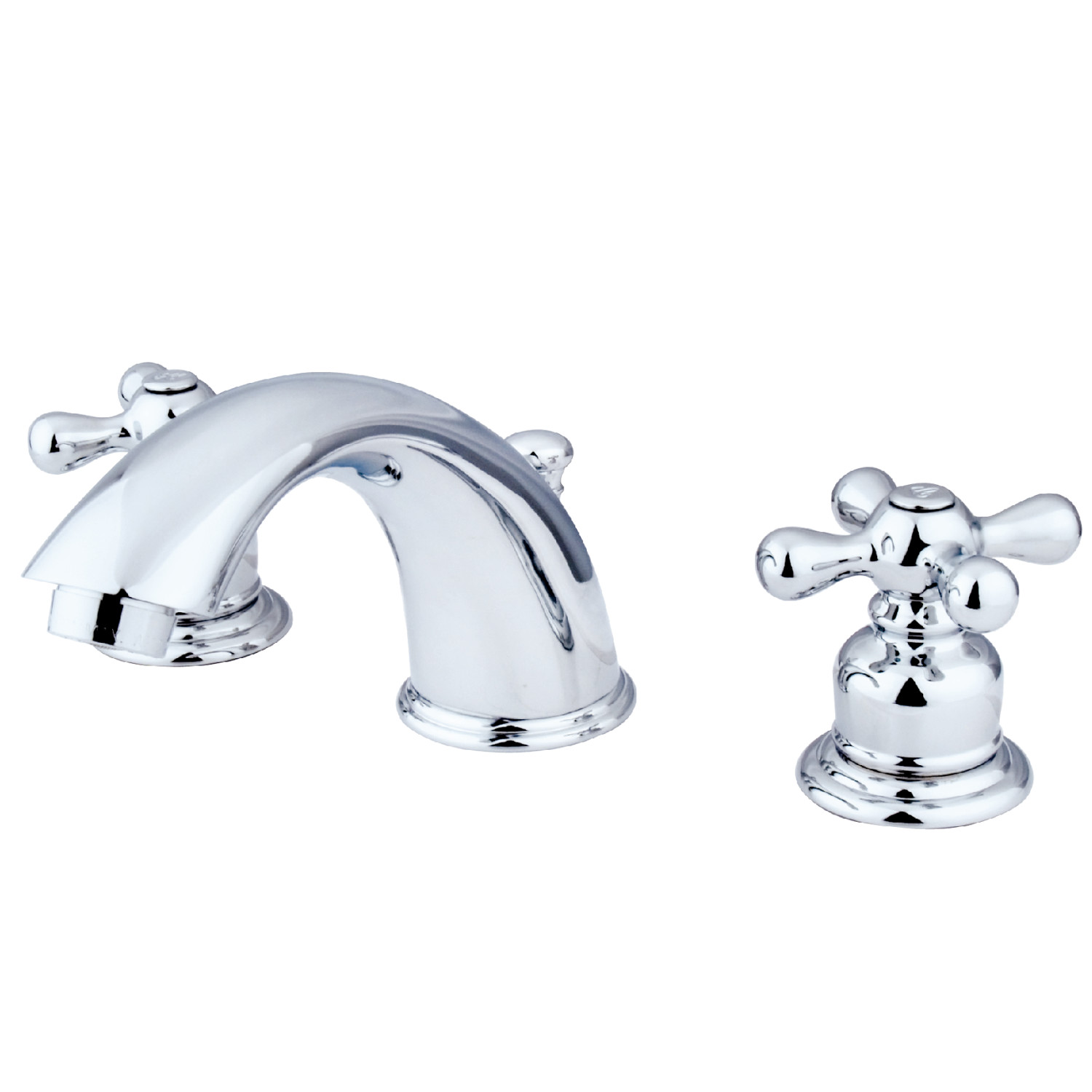 Traditional 2-Handle 3-Hole Deck Mounted Widespread Bathroom Faucet with Plastic Pop-Up in Polished Chrome with 4 Color Options