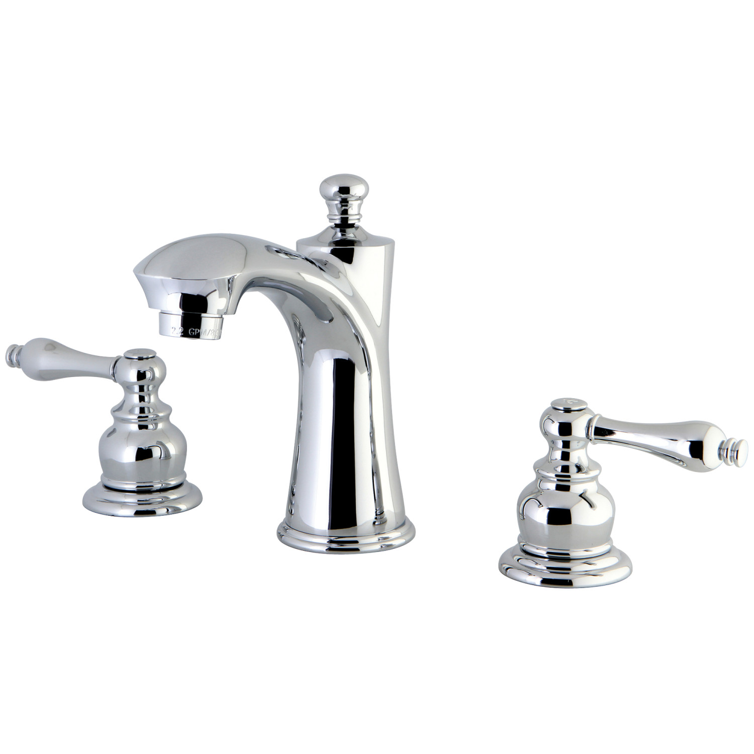 Traditional 2-Handle 3-Hole Deck Mounted Widespread Bathroom Faucet with Plastic Pop-Up in Polished Chrome with 3 Finish Options