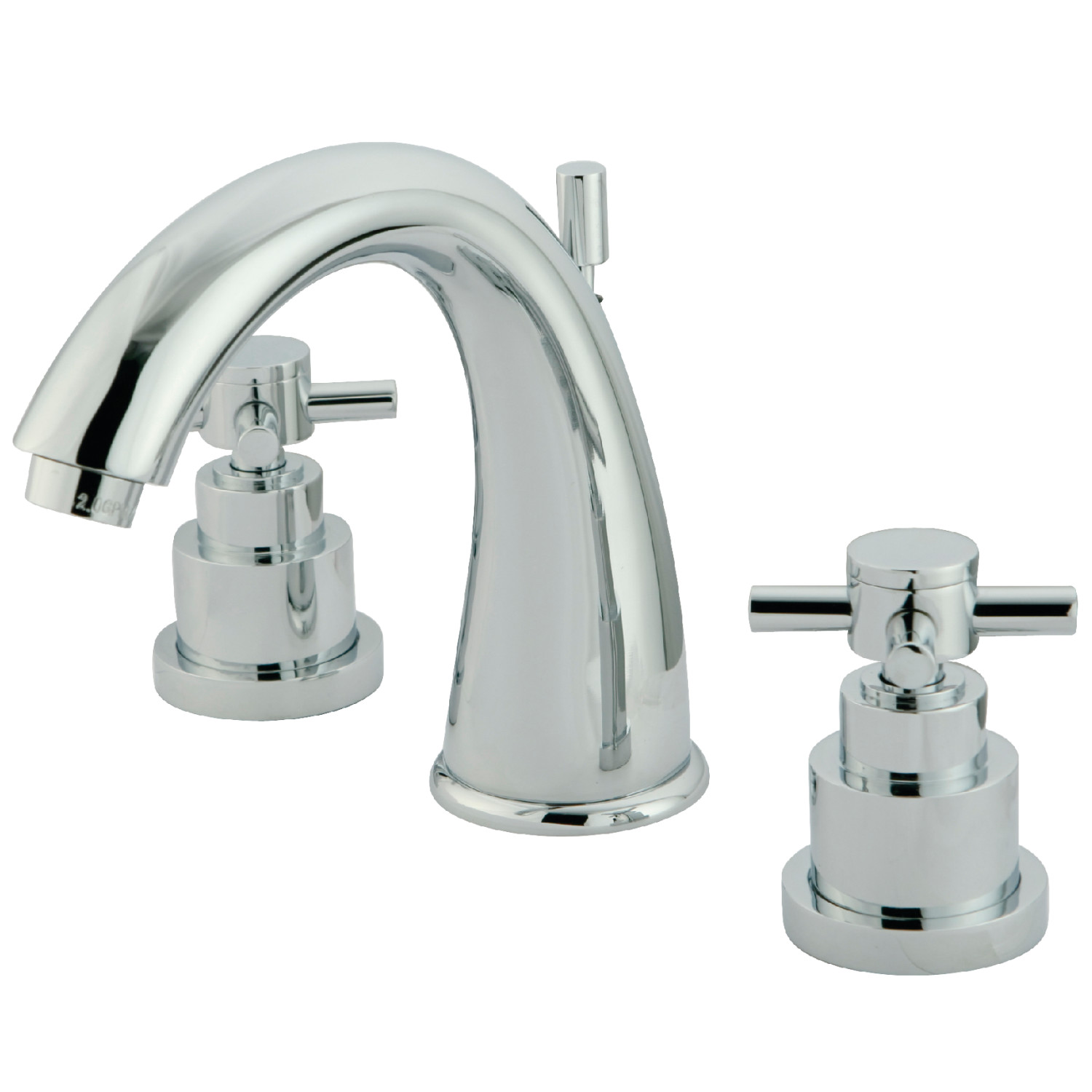 Modern Two-Handle 3-Hole Deck Mounted Widespread Bathroom Faucet with Brass Pop-Up in Polished Chrome with 4 Color Option
