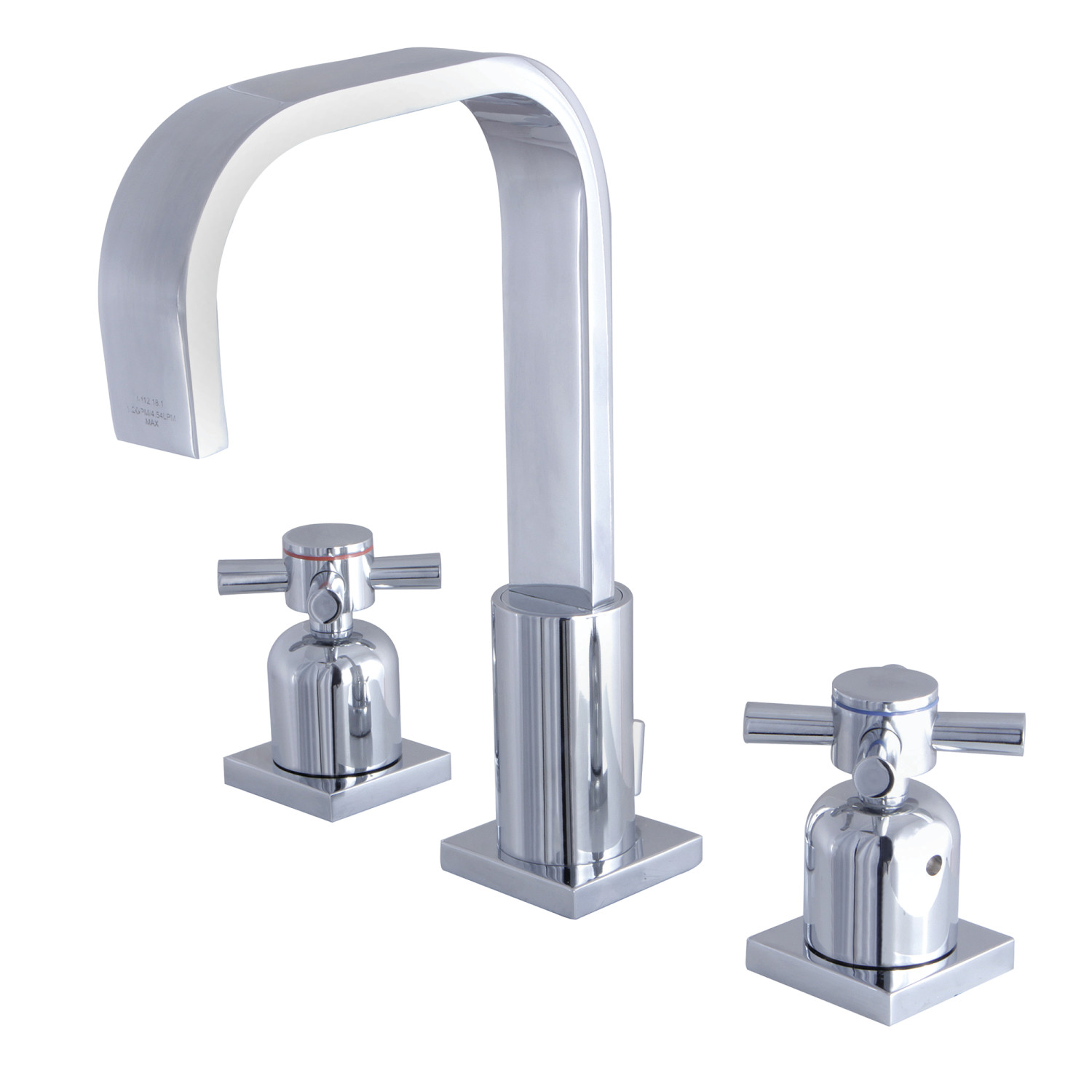 Modern Two-Handle 3-Hole Deck Mounted Widespread Bathroom Faucet with Plastic Pop-Up in Polished Chrome with 3 Finish Option