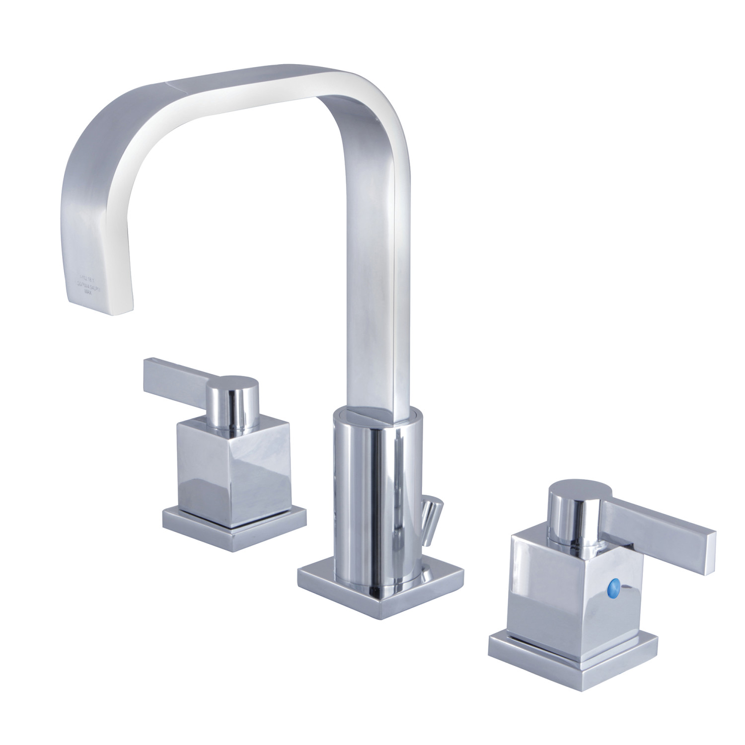 Modern 2-Handle 3-Hole Deck Mounted Widespread Bathroom Faucet with Plastic Pop-Up in Polished Chrome with 3 Finish Options