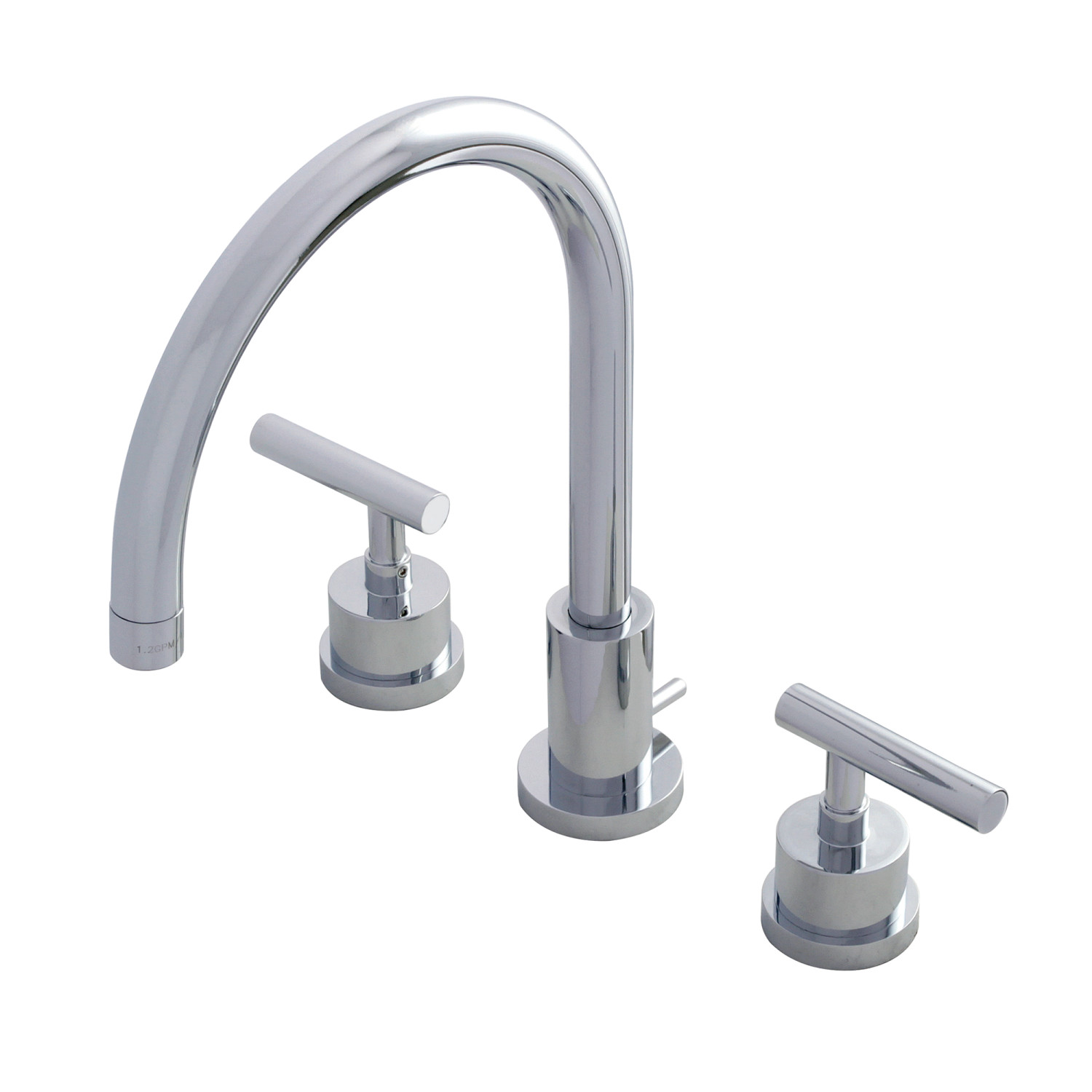 Modern 2-Handle 3-Hole Deck Mounted Widespread Bathroom Faucet with Brass Pop-Up in Polished Chrome with 3 Finish Options