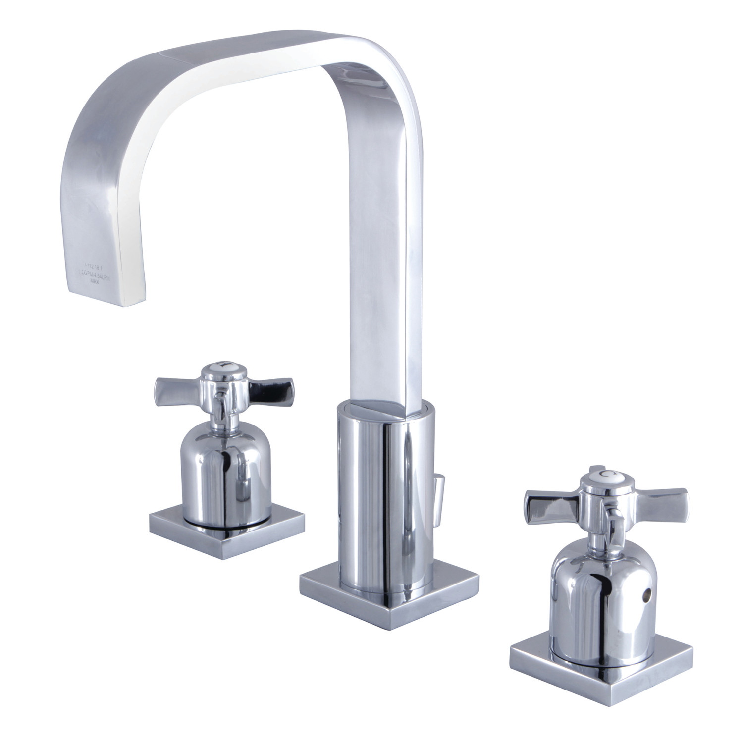 Modern 2-Handle 3-Hole Deck Mounted Widespread Bathroom Faucet with Plastic Pop-Up in Polished Chrome with 3 Color Options