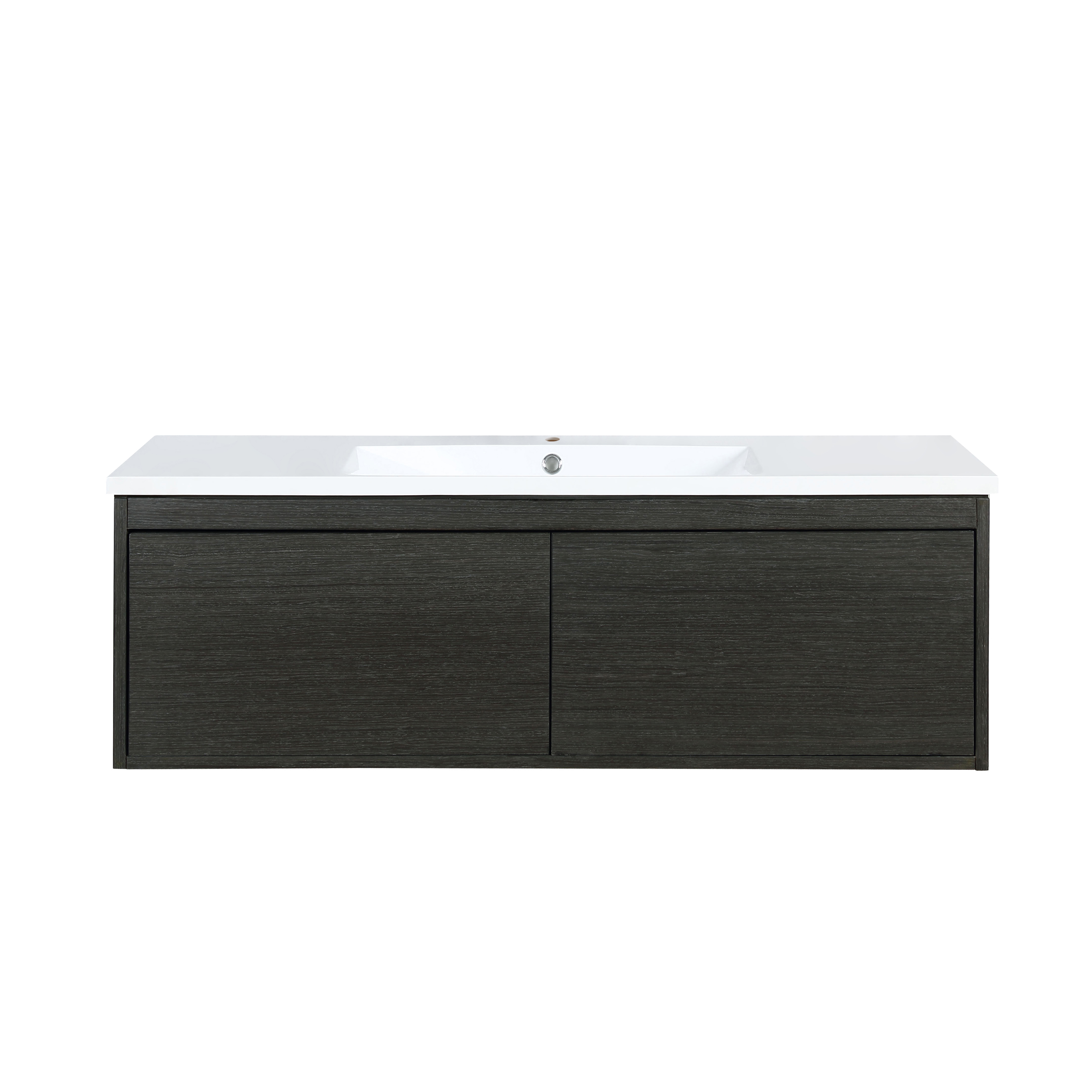 """48"""" Iron Charcoal Bathroom Vanity and Acrylic Composite Top with Integrated Sink"""