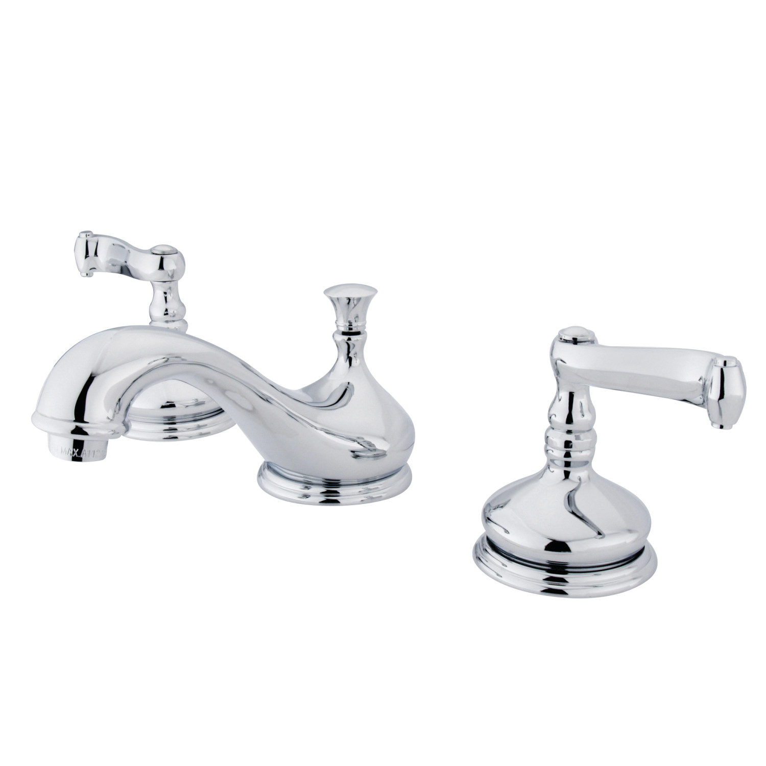 Traditional Two-Handle Three-Hole Deck Mounted Widespread Bathroom Faucet with Brass Pop-Up in Polished Chrome with 4 Color Option