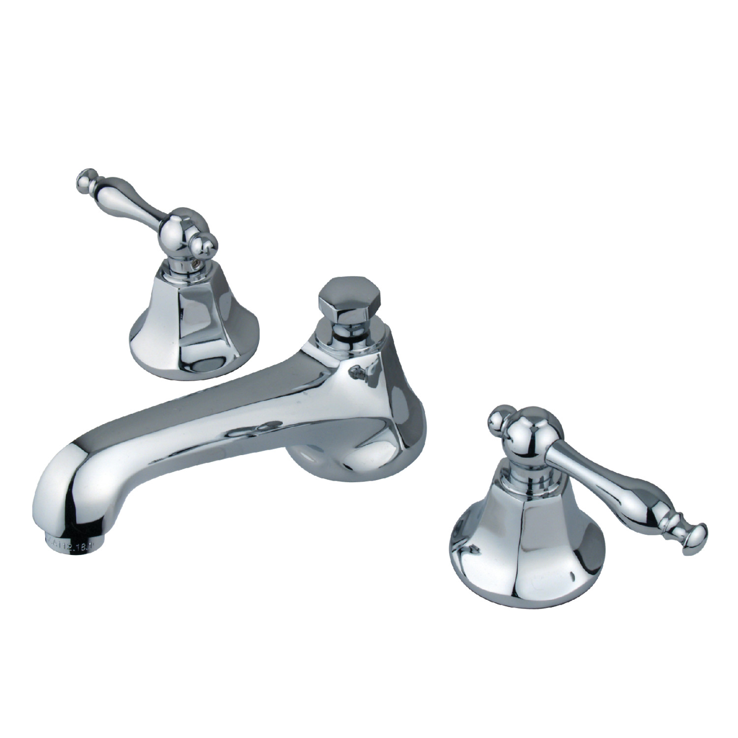 Modern Two-Handle Three-Hole Deck Mounted Widespread Bathroom Faucet with Brass Pop-Up in Polished Chrome with 4 Finish Option