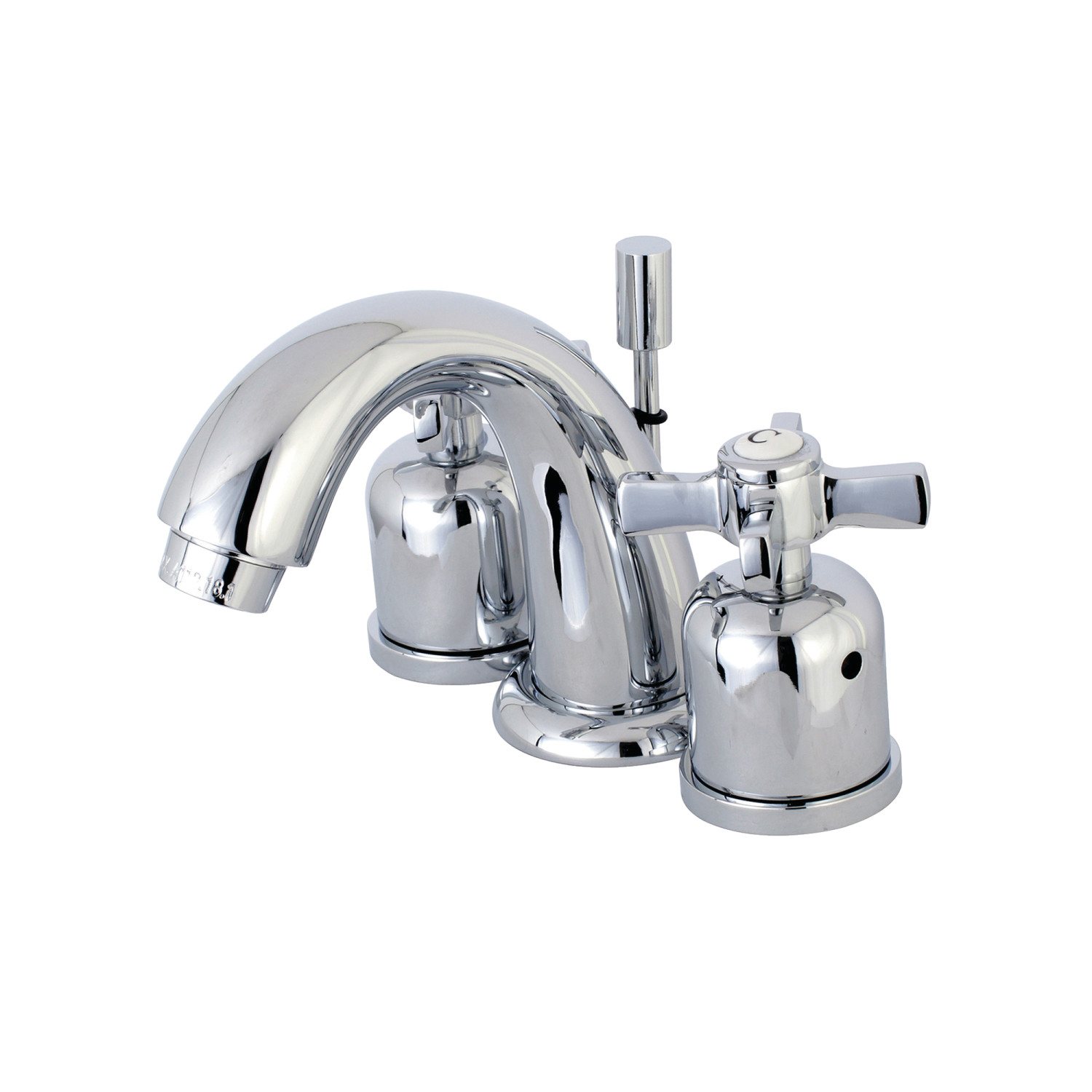 Modern Two-Handle 3-Hole Deck Mounted Widespread Bathroom Faucet with Plastic Pop-Up with 4 Finish Options