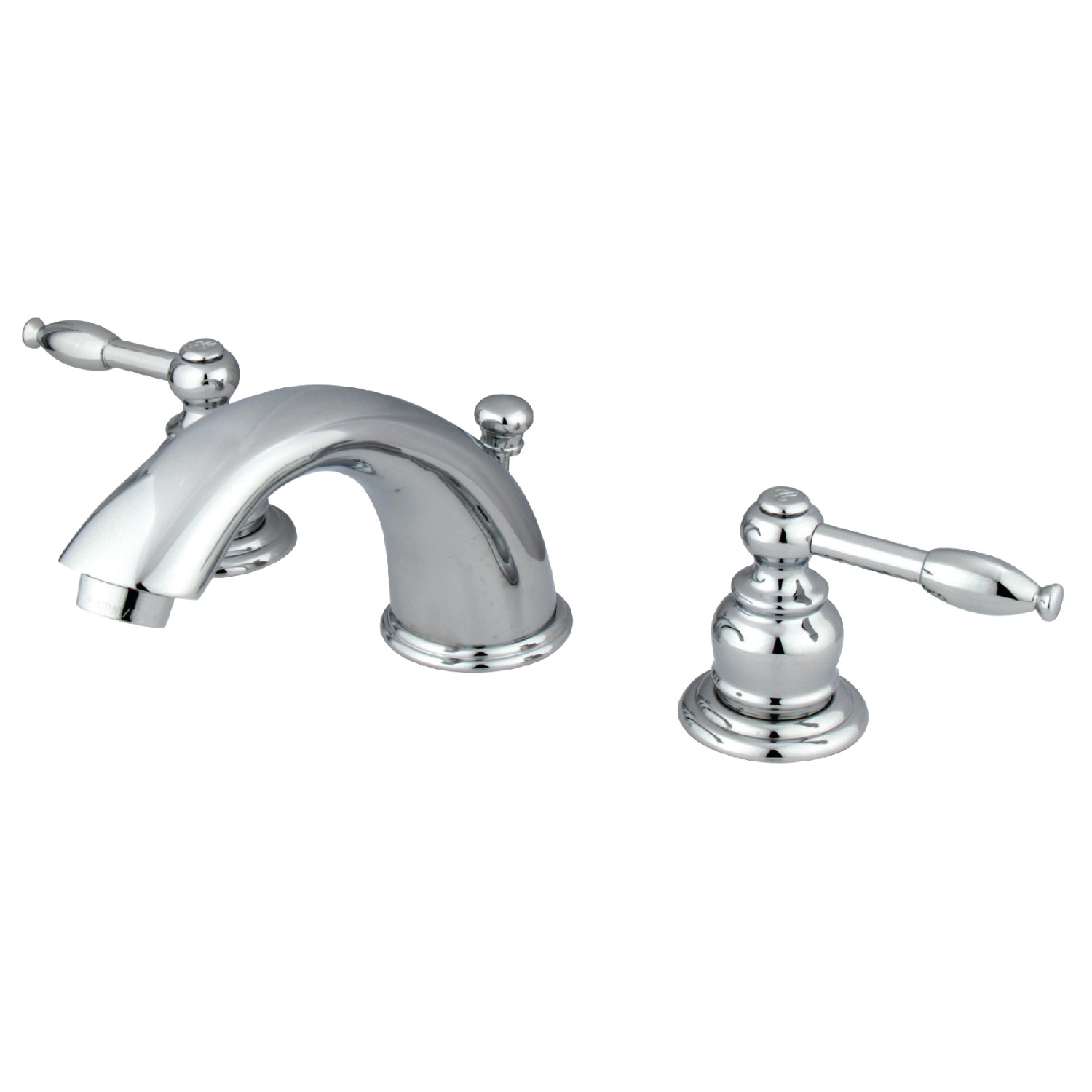 Traditional Two-Handle 3-Hole Deck Mounted Widespread Bathroom Faucet with Plastic Pop-Up with 4 Finish Option