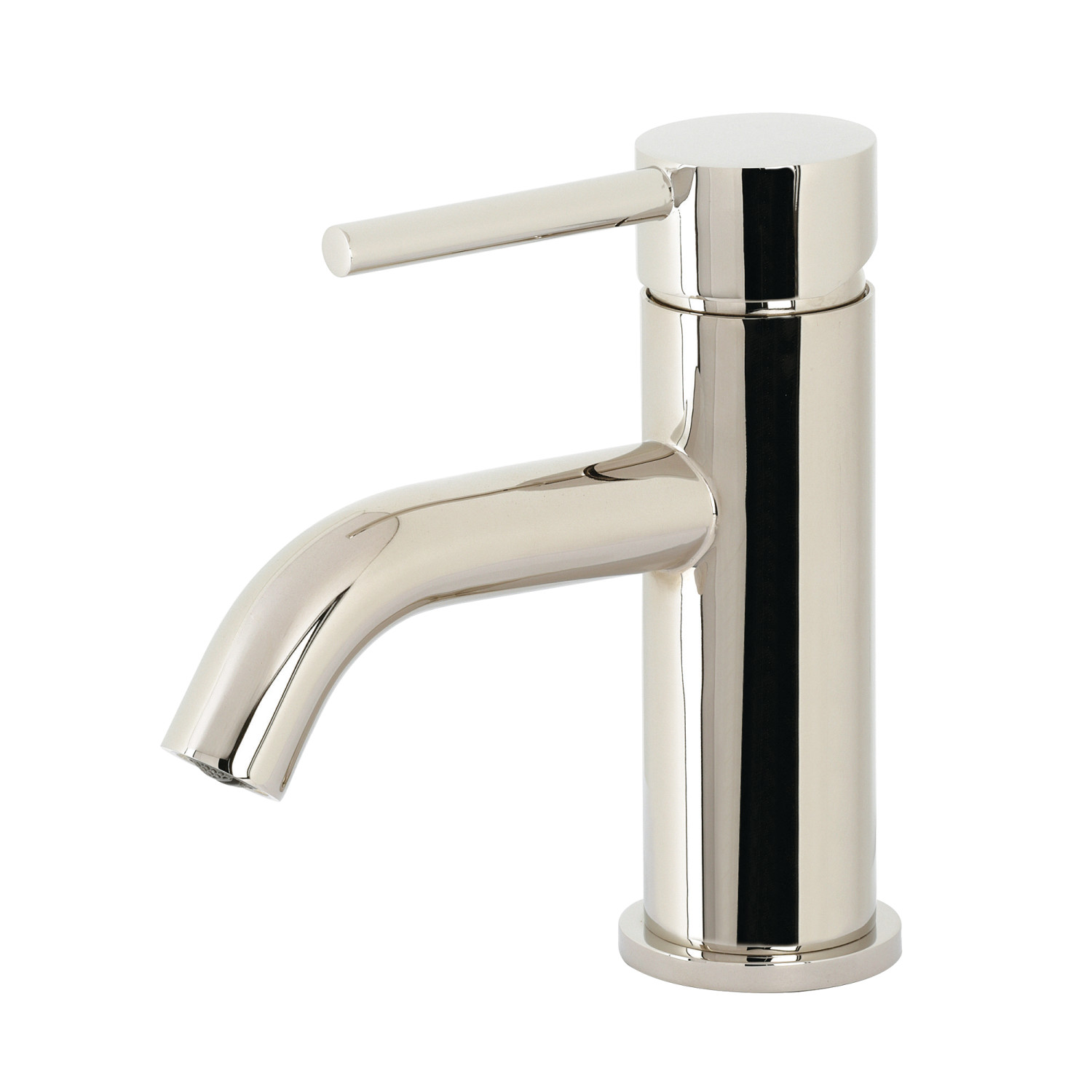 Single-Handle 1-Hole Deck Mounted Bathroom Faucet with Push Pop-Up in Polished Chrome