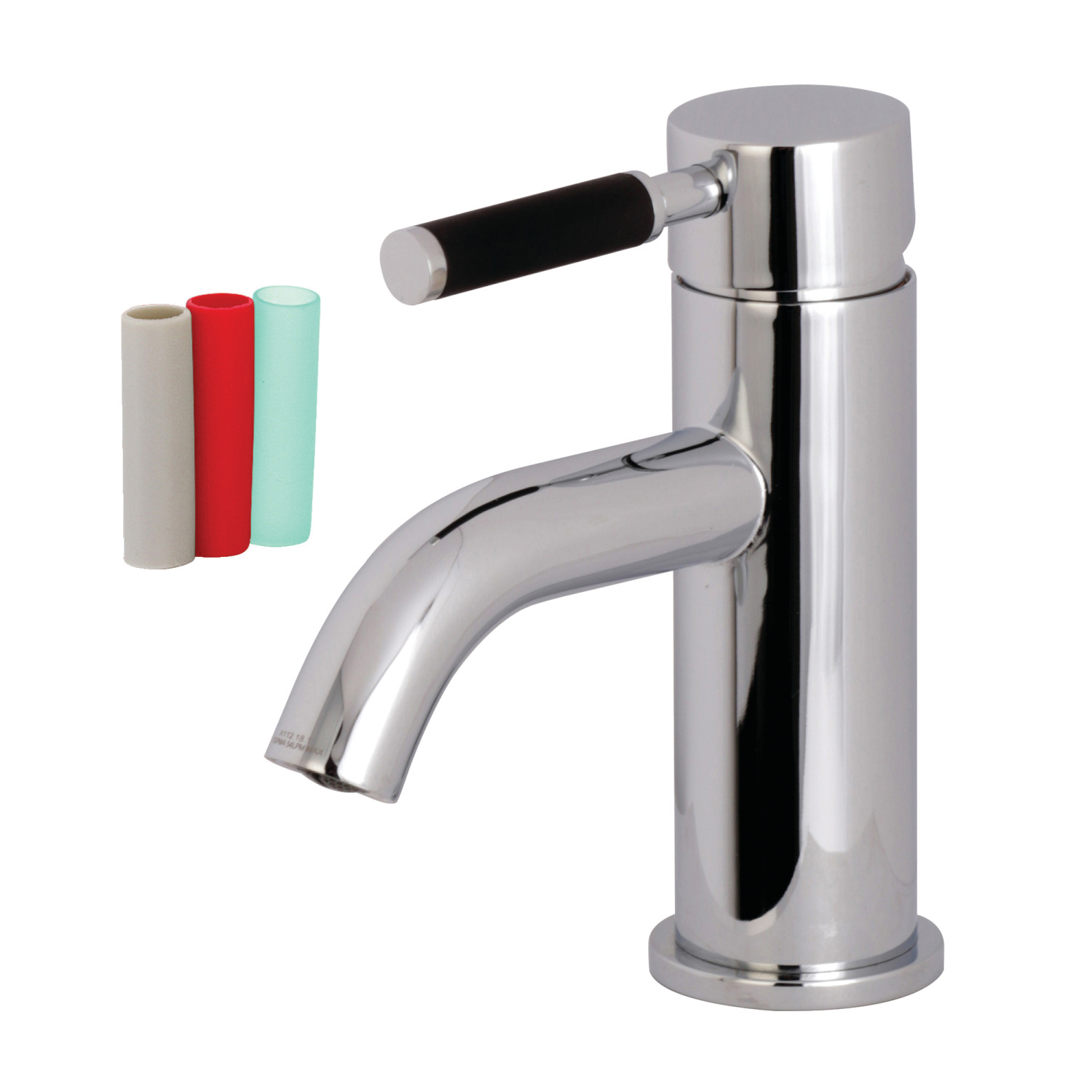 Single-Handle 1-Hole Deck Mounted Bathroom Faucet in Polished Chrome with 5 Finish Options