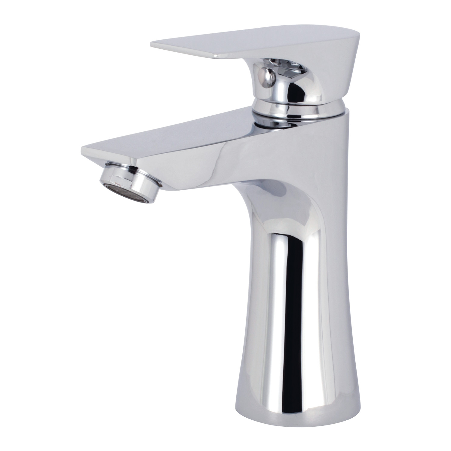 Single-Handle 1-Hole Deck Mounted Bathroom Faucet in Polished Chrome with 5 Finish Option