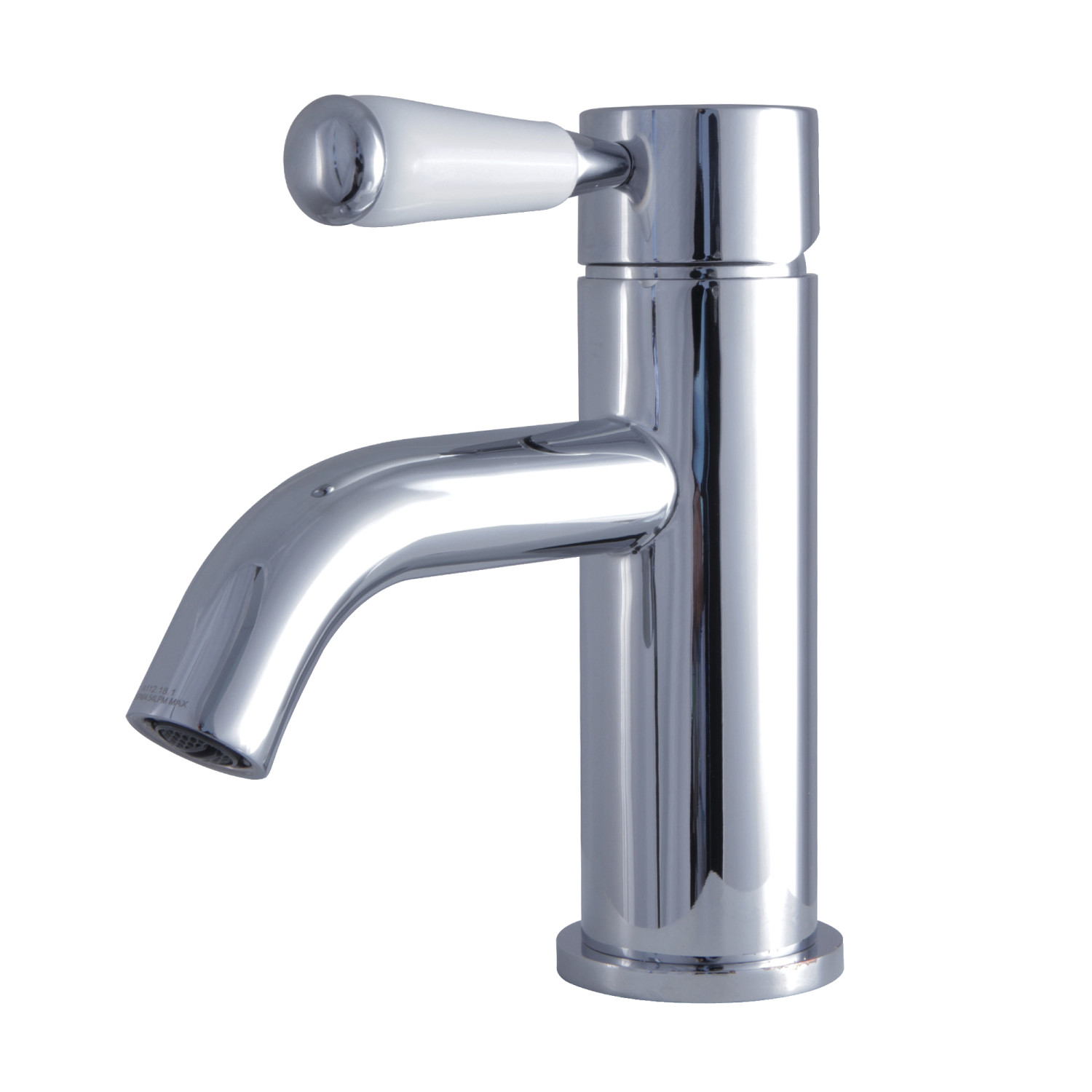 Single-Handle 1-Hole Deck Mounted Bathroom Faucet in Polished Chrome with 5 Color Option