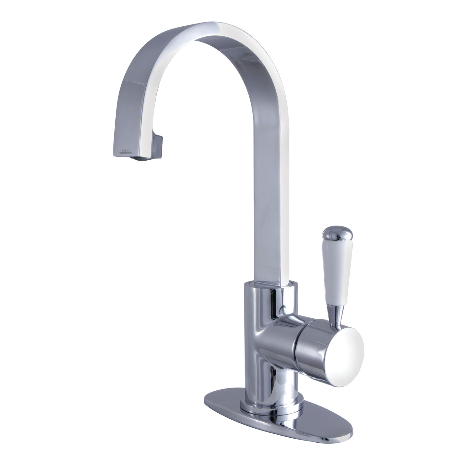 Single-Handle 1-Hole Deck Mounted Bathroom Faucet in Polished Chrome with 3 Finish Options