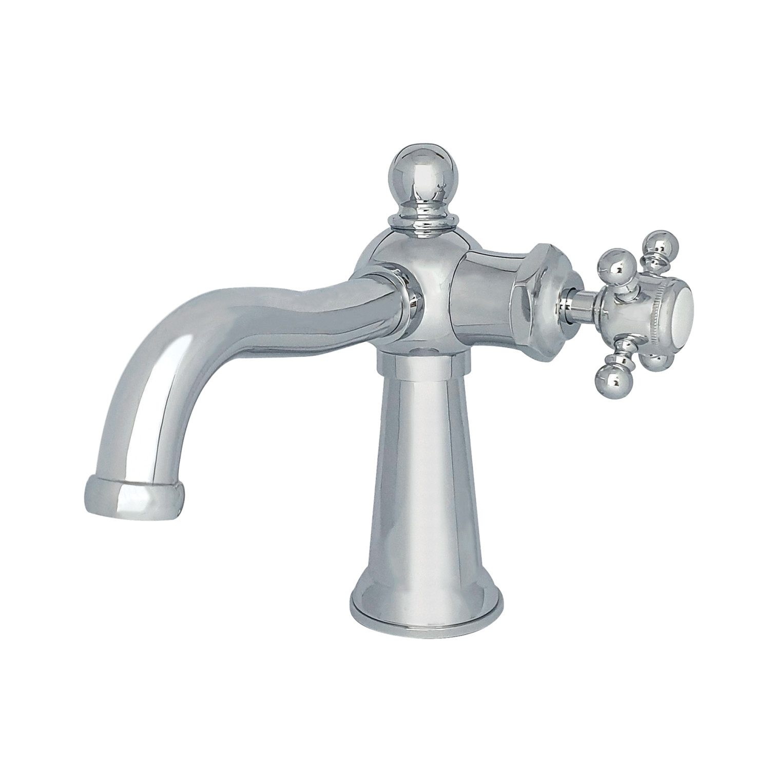 Single-Handle 1-Hole Deck Mount Bathroom Faucet with Push Pop-Up in Polished Chrome