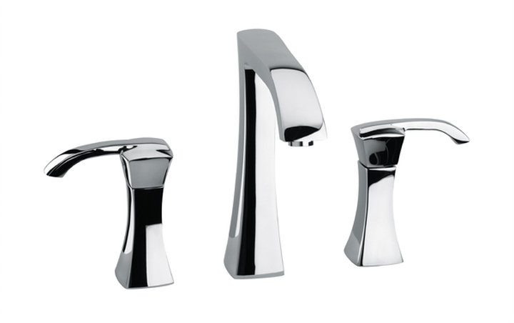 Widespread Lavatory Faucet with Lever Handles in Chrome