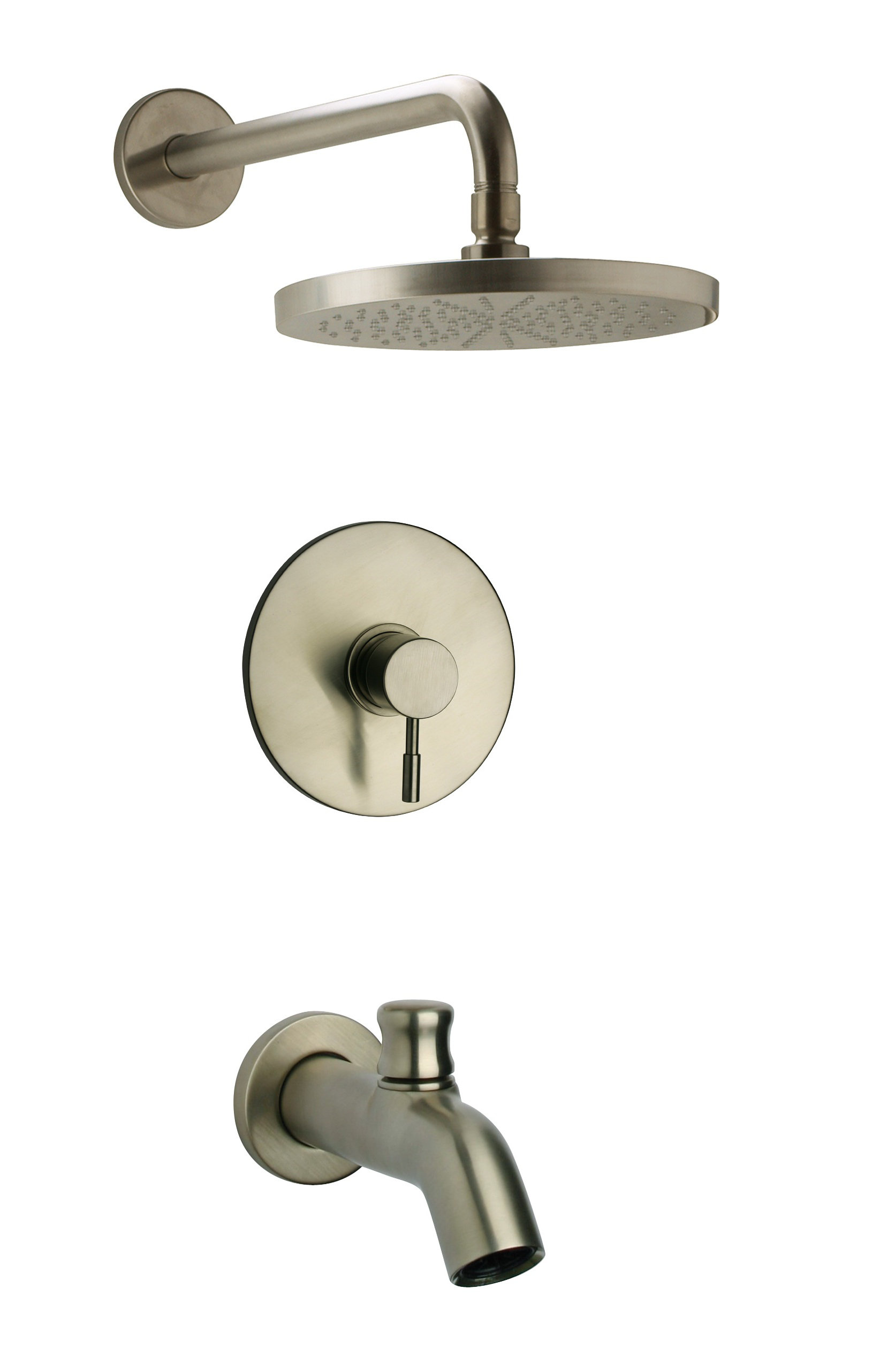 Pressure Balance Shower Set in Brushed Nickel Finish